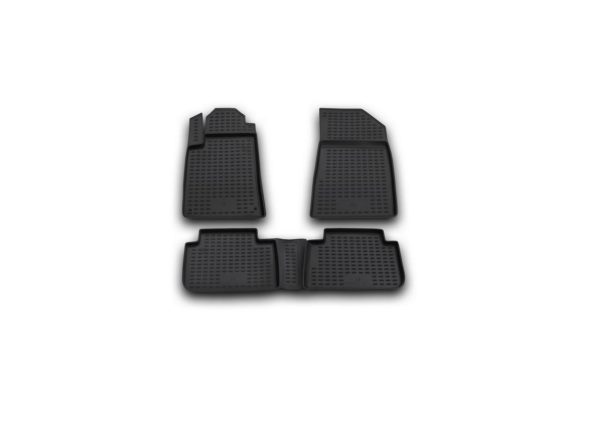 Набор автомобильных ковриков Novline-Autofamily для Citroen C5 2001-01/2008, в салон, 4 шт. NLC.10.08.210NLC.10.08.210Набор автомобильных ковриков Novline-Autofamily, изготовленный из полиуретана, состоит из 4 ковриков, которые учитывают все особенности каждой модели автомобиля и полностью повторяют контуры пола. Полиуретановые автомобильные коврики для салона произведены из высококачественного материала, который держит форму, прочный и не пачкает обувь. Коврики в салон не только улучшат внешний вид салона вашего автомобиля, но и надежно уберегут его от пыли, грязи и сырости, а значит, защитят кузов от коррозии. Полиуретановые коврики для автомобиля гладкие, приятные и не пропускают влагу. Ковры для автомобилей надежно крепятся на полу и не скользят, что очень важно во время движения. Чистятся коврики очень просто: как при помощи автомобильного пылесоса, так и различными моющими средствами. Набор подходит для Citroen C5 2001 - январь 2008 годов выпуска.