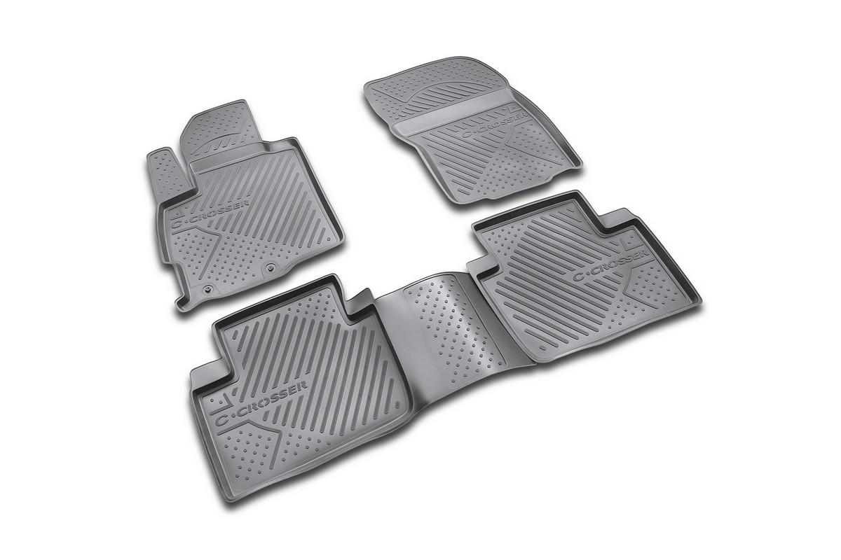 Набор автомобильных ковриков Novline-Autofamily для Citroen C-Crosser 2007-, в салон, 4 шт. NLC.10.14.210kNLC.10.14.210kНабор автомобильных ковриков Novline-Autofamily, изготовленный из полиуретана, состоит из 4 ковриков, которые учитывают все особенности каждой модели автомобиля и полностью повторяют контуры пола. Полиуретановые автомобильные коврики для салона произведены из высококачественного материала, который держит форму, прочный и не пачкает обувь. Коврики в салон не только улучшат внешний вид салона вашего автомобиля, но и надежно уберегут его от пыли, грязи и сырости, а значит, защитят кузов от коррозии. Полиуретановые коврики для автомобиля гладкие, приятные и не пропускают влагу. Ковры для автомобилей надежно крепятся на полу и не скользят, что очень важно во время движения. Чистятся коврики очень просто: как при помощи автомобильного пылесоса, так и различными моющими средствами. Набор подходит для Citroen C-Crosser с 2007 года выпуска.