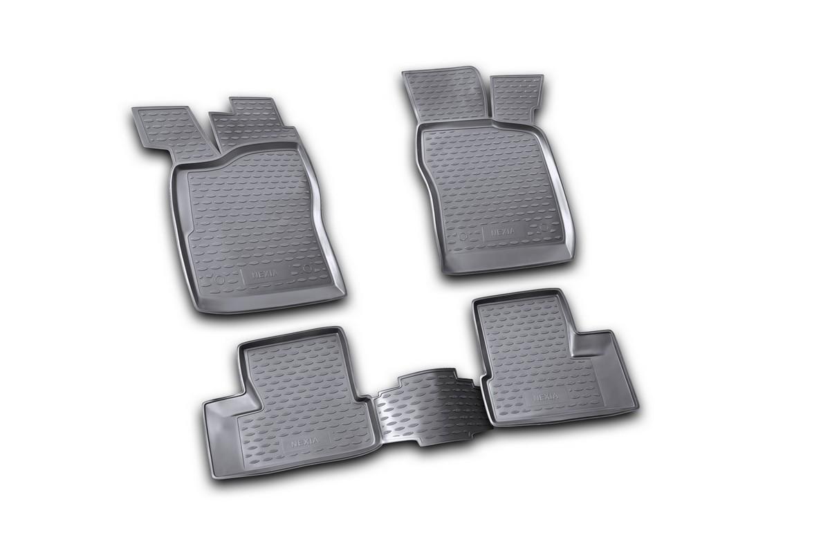Набор автомобильных ковриков Novline-Autofamily для Daewoo Nexia 1995-2007, в салон, цвет: черный, 4 штNLC.11.05.210kНабор автомобильных ковриков Novline-Autofamily, изготовленный из полиуретана, состоит из 4 ковриков, которые учитывают все особенности каждой модели автомобиля и полностью повторяют контуры пола. Полиуретановые автомобильные коврики для салона произведены из высококачественного материала, который держит форму, прочный и не пачкает обувь. Коврики в салон не только улучшат внешний вид салона вашего автомобиля, но и надежно уберегут его от пыли, грязи и сырости, а значит, защитят кузов от коррозии. Полиуретановые коврики для автомобиля гладкие, приятные и не пропускают влагу. Ковры для автомобилей надежно крепятся на полу и не скользят, что очень важно во время движения. Чистятся коврики очень просто: как при помощи автомобильного пылесоса, так и различными моющими средствами. Набор подходит для Daewoo Nexia 1995-2007 годов выпуска.