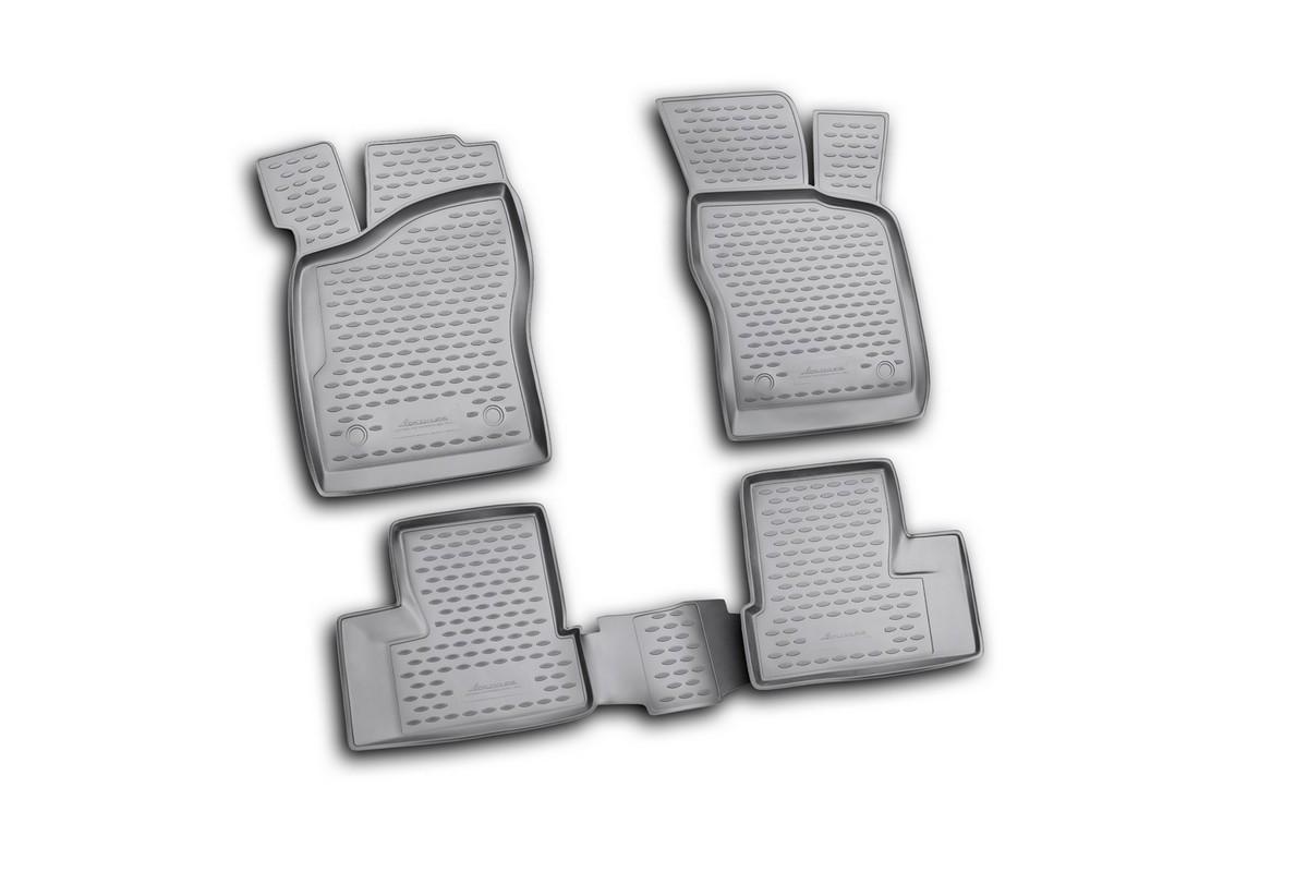 Набор автомобильных ковриков Novline-Autofamily для Daewoo Nexia 2008-, в салон, цвет: черный, 4 штNLC.11.09.210kНабор автомобильных ковриков Novline-Autofamily, изготовленный из полиуретана, состоит из 4 ковриков, которые учитывают все особенности каждой модели автомобиля и полностью повторяют контуры пола. Полиуретановые автомобильные коврики для салона произведены из высококачественного материала, который держит форму, прочный и не пачкает обувь. Коврики в салон не только улучшат внешний вид салона вашего автомобиля, но и надежно уберегут его от пыли, грязи и сырости, а значит, защитят кузов от коррозии. Полиуретановые коврики для автомобиля гладкие, приятные и не пропускают влагу. Ковры для автомобилей надежно крепятся на полу и не скользят, что очень важно во время движения. Чистятся коврики очень просто: как при помощи автомобильного пылесоса, так и различными моющими средствами. Набор подходит для Daewoo Nexia с 2008 года выпуска.