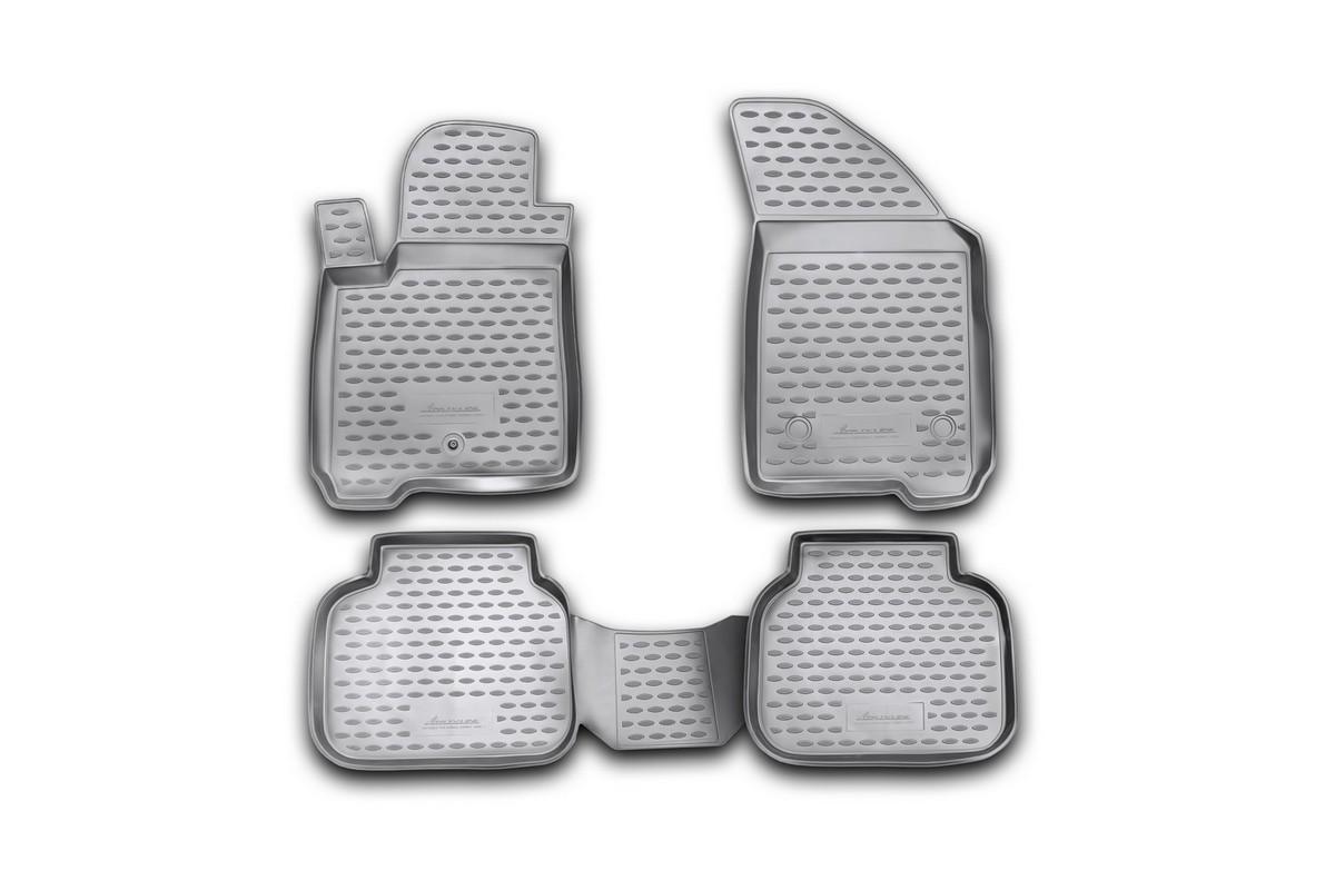 Набор автомобильных ковриков Novline-Autofamily для Dodge Journey 2008-, в салон, 4 штNLC.13.04.210kНабор автомобильных ковриков Novline-Autofamily, изготовленный из полиуретана, состоит из 4 ковриков, которые учитывают все особенности каждой модели автомобиля и полностью повторяют контуры пола. Полиуретановые автомобильные коврики для салона произведены из высококачественного материала, который держит форму, прочный и не пачкает обувь. Коврики в салон не только улучшат внешний вид салона вашего автомобиля, но и надежно уберегут его от пыли, грязи и сырости, а значит, защитят кузов от коррозии. Полиуретановые коврики для автомобиля гладкие, приятные и не пропускают влагу. Ковры для автомобилей надежно крепятся на полу и не скользят, что очень важно во время движения. Чистятся коврики очень просто: как при помощи автомобильного пылесоса, так и различными моющими средствами. Набор подходит для Dodge Journey с 2008 года выпуска.
