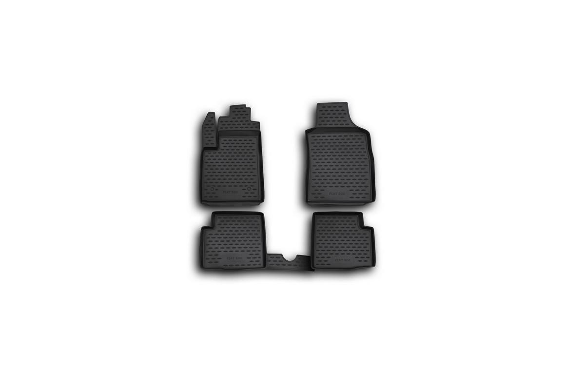 Набор автомобильных ковриков Novline-Autofamily для Fiat 500 08/2008-, в салон, 4 штNLC.15.16.210kНабор автомобильных ковриков Novline-Autofamily, изготовленный из полиуретана, состоит из 4 ковриков, которые учитывают все особенности каждой модели автомобиля и полностью повторяют контуры пола. Полиуретановые автомобильные коврики для салона произведены из высококачественного материала, который держит форму, прочный и не пачкает обувь. Коврики в салон не только улучшат внешний вид салона вашего автомобиля, но и надежно уберегут его от пыли, грязи и сырости, а значит, защитят кузов от коррозии. Полиуретановые коврики для автомобиля гладкие, приятные и не пропускают влагу. Ковры для автомобилей надежно крепятся на полу и не скользят, что очень важно во время движения. Чистятся коврики очень просто: как при помощи автомобильного пылесоса, так и различными моющими средствами. Набор подходит для Fiat 500 с августа 2008 года выпуска.