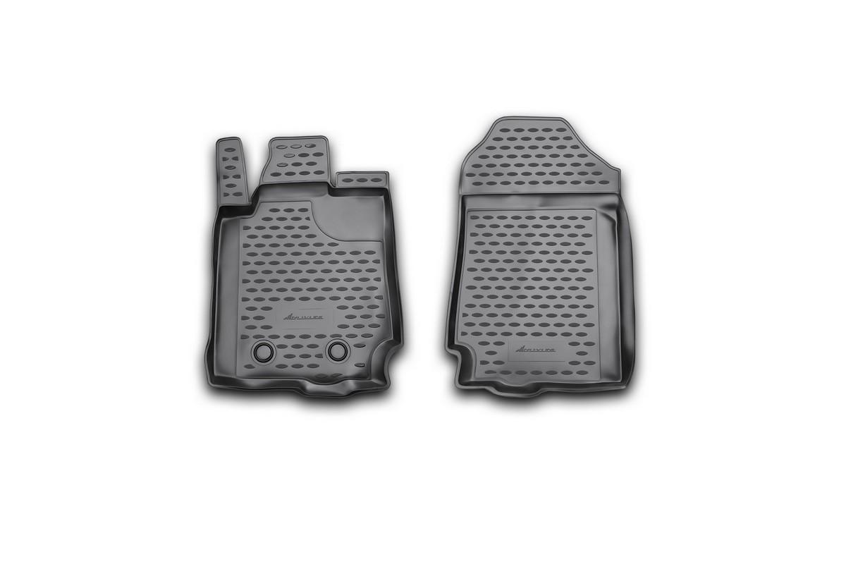 Набор автомобильных ковриков Novline-Autofamily для Ford Ranger, 2 doors 2011-, в салон, 4 шт. NLC.16.35.210kNLC.16.35.210kНабор автомобильных ковриков Novline-Autofamily, изготовленный из полиуретана, состоит из 4 ковриков, которые учитывают все особенности каждой модели автомобиля и полностью повторяют контуры пола. Полиуретановые автомобильные коврики для салона произведены из высококачественного материала, который держит форму, прочный и не пачкает обувь. Коврики в салон не только улучшат внешний вид салона вашего автомобиля, но и надежно уберегут его от пыли, грязи и сырости, а значит, защитят кузов от коррозии. Полиуретановые коврики для автомобиля гладкие, приятные и не пропускают влагу. Ковры для автомобилей надежно крепятся на полу и не скользят, что очень важно во время движения. Чистятся коврики очень просто: как при помощи автомобильного пылесоса, так и различными моющими средствами. Набор подходит для Ford Ranger, 2 doors с 2011 года выпуска. Уважаемые клиенты! Обращаем ваше внимание, на тот факт, что коврики имеют форму, соответствующую модели данного...