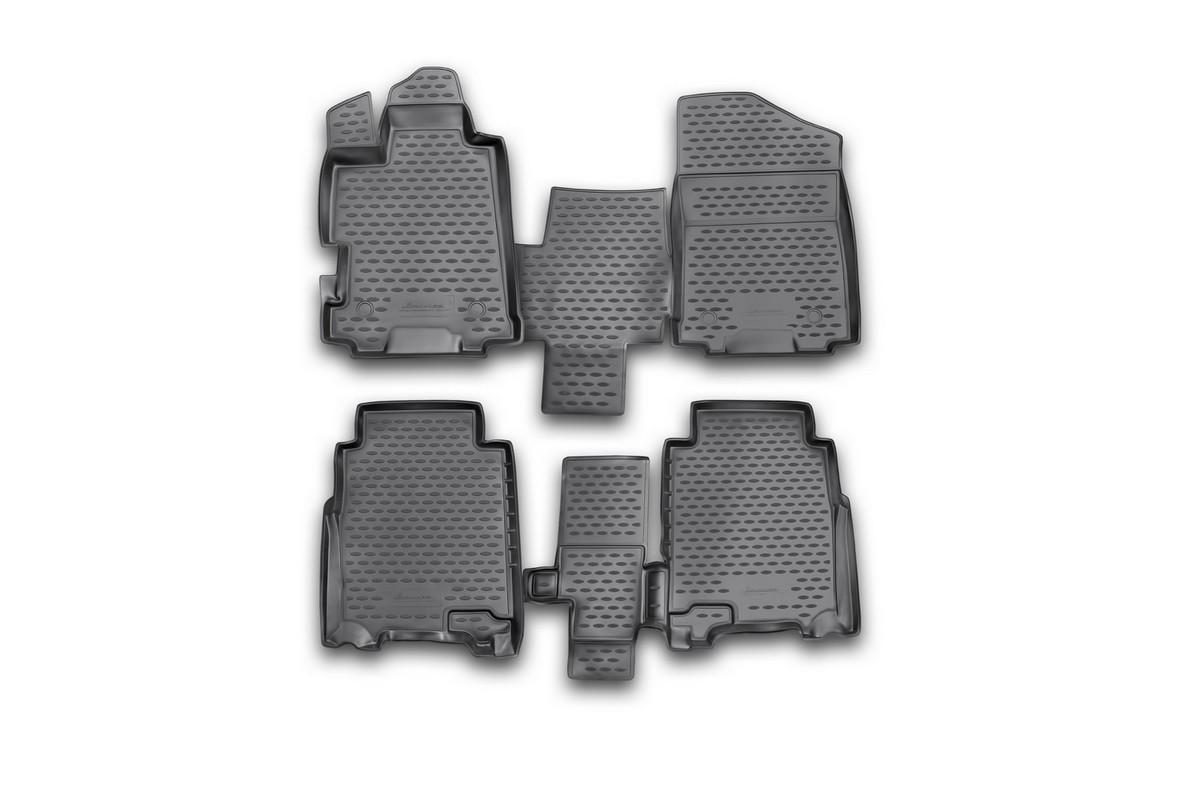 Набор автомобильных ковриков Novline-Autofamily для Honda FR-V 2004-2010, в салон, 4 штNLC.18.24.210kНабор автомобильных ковриков Novline-Autofamily, изготовленный из полиуретана, состоит из 4 ковриков, которые учитывают все особенности каждой модели автомобиля и полностью повторяют контуры пола. Полиуретановые автомобильные коврики для салона произведены из высококачественного материала, который держит форму, прочный и не пачкает обувь. Коврики в салон не только улучшат внешний вид салона вашего автомобиля, но и надежно уберегут его от пыли, грязи и сырости, а значит, защитят кузов от коррозии. Полиуретановые коврики для автомобиля гладкие, приятные и не пропускают влагу. Ковры для автомобилей надежно крепятся на полу и не скользят, что очень важно во время движения. Чистятся коврики очень просто: как при помощи автомобильного пылесоса, так и различными моющими средствами. Набор подходит для Honda FR-V 2004-2010 годов выпуска.