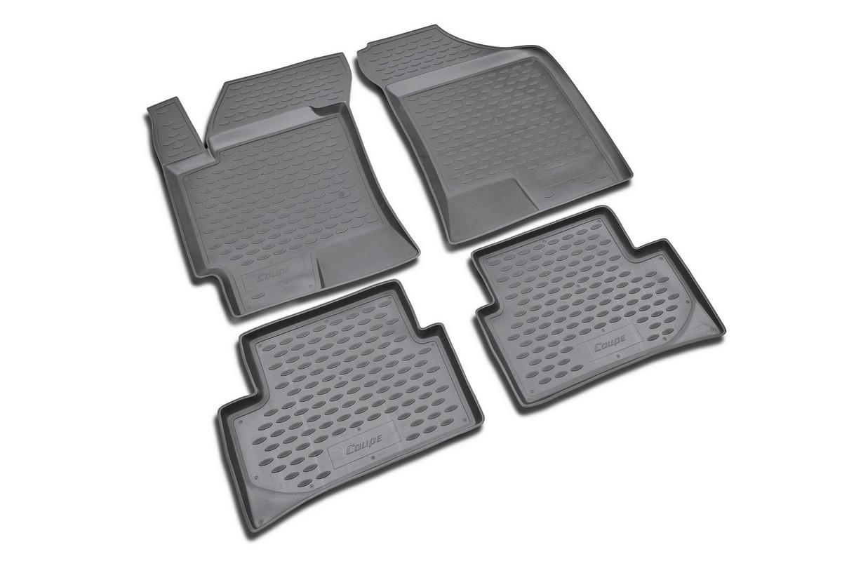 Набор автомобильных ковриков Novline-Autofamily для Hyundai Coupe 2001-, в салон, 4 штNLC.20.16.210kНабор автомобильных ковриков Novline-Autofamily, изготовленный из полиуретана, состоит из 4 ковриков, которые учитывают все особенности каждой модели автомобиля и полностью повторяют контуры пола. Полиуретановые автомобильные коврики для салона произведены из высококачественного материала, который держит форму, прочный и не пачкает обувь. Коврики в салон не только улучшат внешний вид салона вашего автомобиля, но и надежно уберегут его от пыли, грязи и сырости, а значит, защитят кузов от коррозии. Полиуретановые коврики для автомобиля гладкие, приятные и не пропускают влагу. Ковры для автомобилей надежно крепятся на полу и не скользят, что очень важно во время движения. Чистятся коврики очень просто: как при помощи автомобильного пылесоса, так и различными моющими средствами. Набор подходит для Hyundai Coupe с 2001 года выпуска.