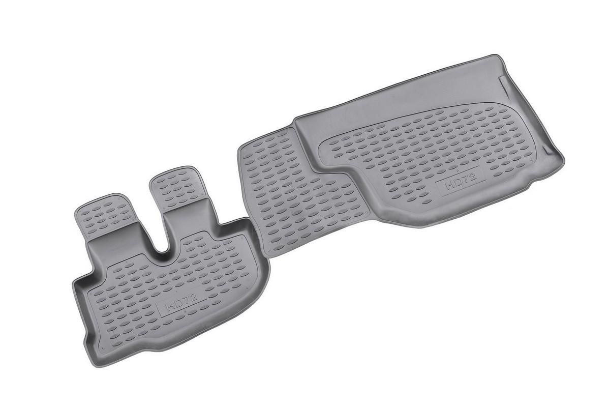 Набор автомобильных ковриков Novline-Autofamily для Hyundai HD72 2007-, в салон, 2 штNLC.20.20.210Набор автомобильных ковриков Novline-Autofamily, изготовленный из полиуретана, состоит из 2 ковриков, которые учитывают все особенности каждой модели автомобиля и полностью повторяют контуры пола. Полиуретановые автомобильные коврики для салона произведены из высококачественного материала, который держит форму, прочный и не пачкает обувь. Коврики в салон не только улучшат внешний вид салона вашего автомобиля, но и надежно уберегут его от пыли, грязи и сырости, а значит, защитят кузов от коррозии. Полиуретановые коврики для автомобиля гладкие, приятные и не пропускают влагу. Ковры для автомобилей надежно крепятся на полу и не скользят, что очень важно во время движения. Чистятся коврики очень просто: как при помощи автомобильного пылесоса, так и различными моющими средствами. Набор подходит для Hyundai HD72 c 2007 года выпуска.