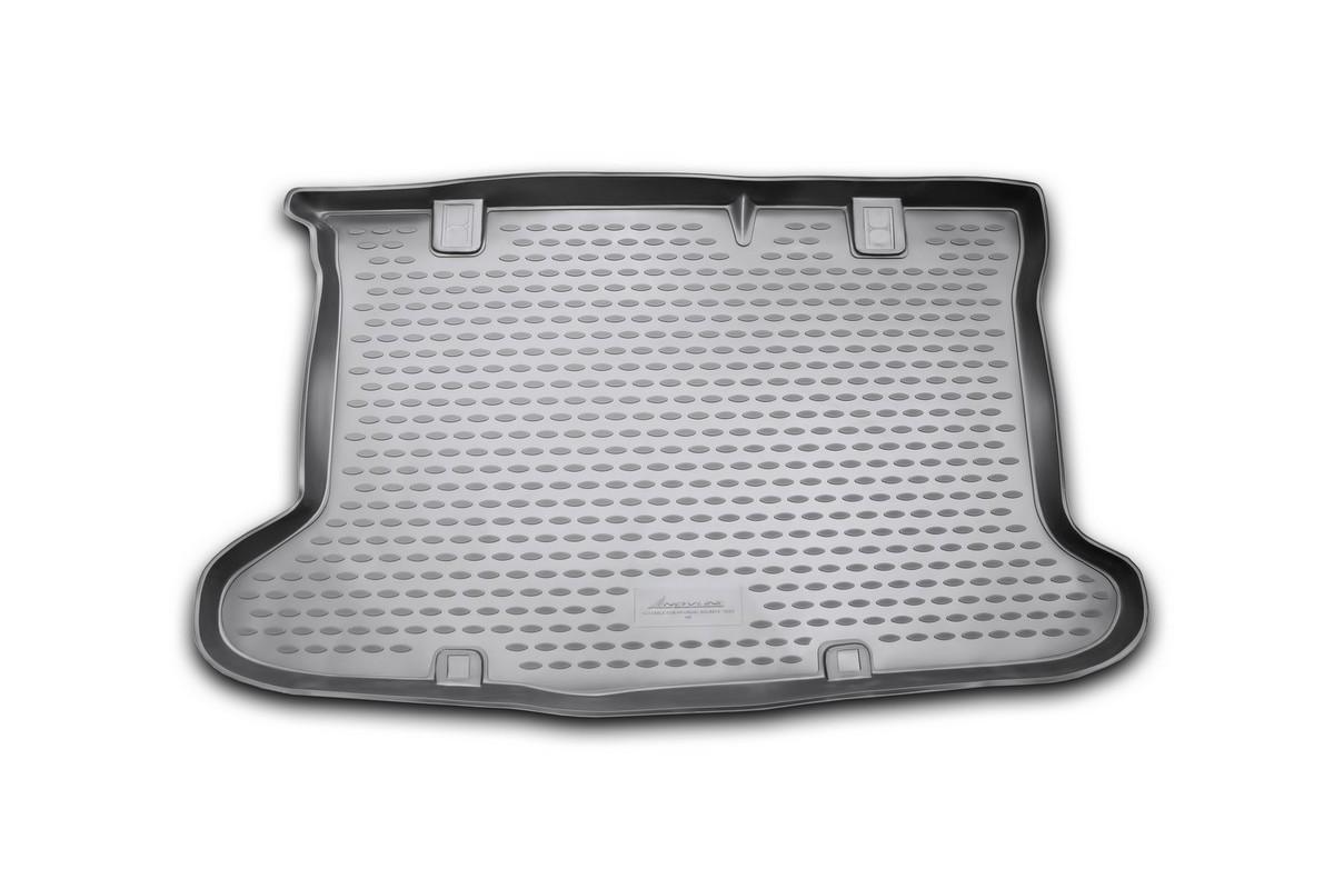 Коврик автомобильный Novline-Autofamily для Hyundai Solaris хэтчбек 2010-2014, 2014-, в багажник коврик в багажник novline ford grand c max 11 2010 разложенные сиденья заднего ряда полиуретан b000 19