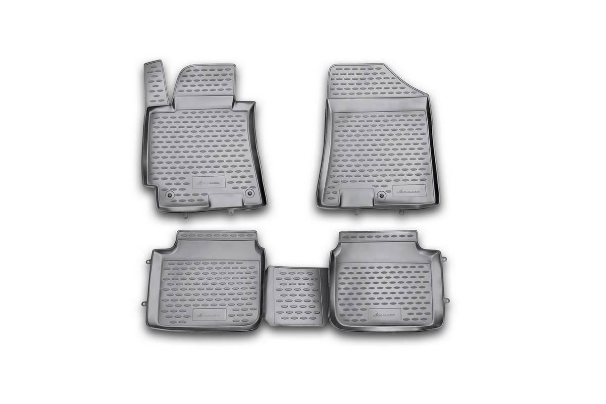 Коврики в салон автомобиля Novline-Autofamily для Hyundai Elantra MD, 2011 -, comfort/sport, 4 штNLC.20.46.210hКоврики Novline-Autofamily улучшат внешний вид салона автомобиля и надежно уберегут его от пыли, грязи и сырости, а значит, защитят кузов от коррозии. Полиуретановые коврики гладкие, приятные и не пропускает влагу. Полиуретановые автомобильные коврики произведены из высококачественного материала, который держит форму и не пачкает обувь. Коврики надежно крепятся на полу и не скользят, что очень важно во время движения, особенно для водителя. Изделия из полиуретана надежно удерживают грязь и влагу, при этом всегда выглядят довольно опрятно. И чистятся они очень просто: как при помощи автомобильного пылесоса, так и различными моющими средствами.