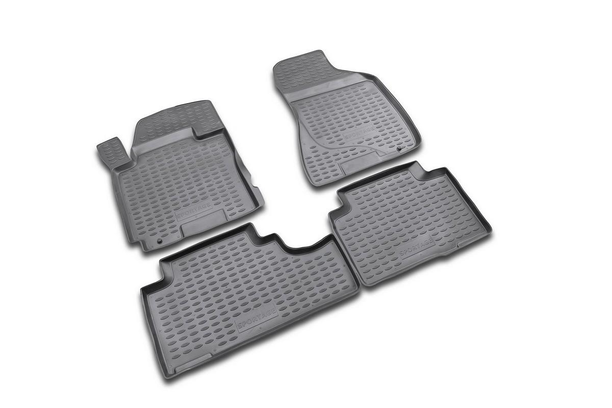 Набор автомобильных ковриков Novline-Autofamily для Kia Sportage 2006-, в салон, 4 шт. NLC.25.04.210NLC.25.04.210Набор автомобильных ковриков Novline-Autofamily, изготовленный из полиуретана, состоит из 4 ковриков, которые учитывают все особенности каждой модели автомобиля и полностью повторяют контуры пола. Полиуретановые автомобильные коврики для салона произведены из высококачественного материала, который держит форму, прочный и не пачкает обувь. Коврики в салон не только улучшат внешний вид салона вашего автомобиля, но и надежно уберегут его от пыли, грязи и сырости, а значит, защитят кузов от коррозии. Полиуретановые коврики для автомобиля гладкие, приятные и не пропускают влагу. Ковры для автомобилей надежно крепятся на полу и не скользят, что очень важно во время движения. Чистятся коврики очень просто: как при помощи автомобильного пылесоса, так и различными моющими средствами. Набор подходит для Kia Sportage c 2006 года выпуска.