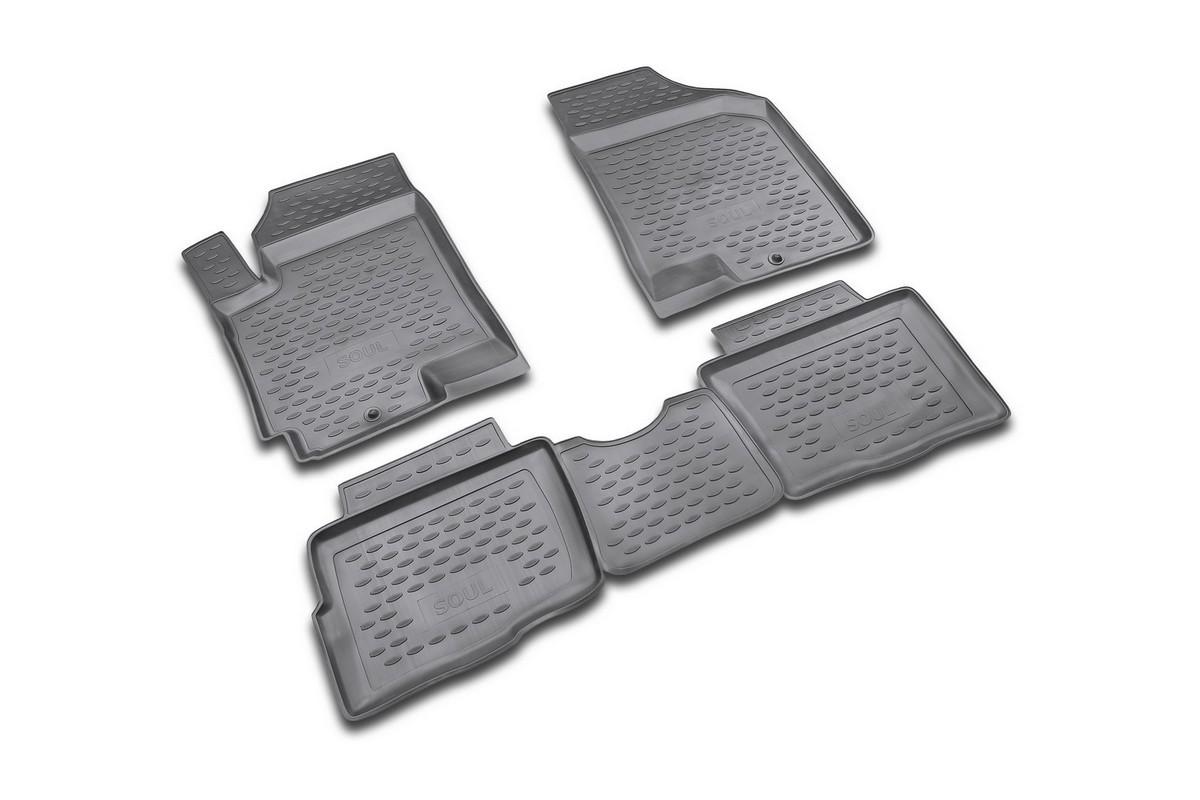 Коврики в салон KIA Soul 2008->, 4 шт. (полиуретан). NLC.25.25.210NLC.25.25.210Коврики в салон не только улучшат внешний вид салона вашего автомобиля, но и надежно уберегут его от пыли, грязи и сырости, а значит, защитят кузов от коррозии. Полиуретановые коврики для автомобиля гладкие, приятные и не пропускают влагу. Автомобильные коврики в салон учитывают все особенности каждой модели и полностью повторяют контуры пола. Благодаря этому их не нужно будет подгибать или обрезать. И самое главное — они не будут мешать педалям. Полиуретановые автомобильные коврики для салона произведены из высококачественного материала, который держит форму и не пачкает обувь. К тому же, этот материал очень прочный (его, к примеру, не получится проткнуть каблуком). Некоторые автоковрики становятся источником неприятного запаха в автомобиле. С полиуретановыми ковриками Novline вы можете этого не бояться. Ковры для автомобилей надежно крепятся на полу и не скользят, что очень важно во время движения, особенно для водителя. Автоковры из полиуретана надежно удерживают грязь и влагу, при...