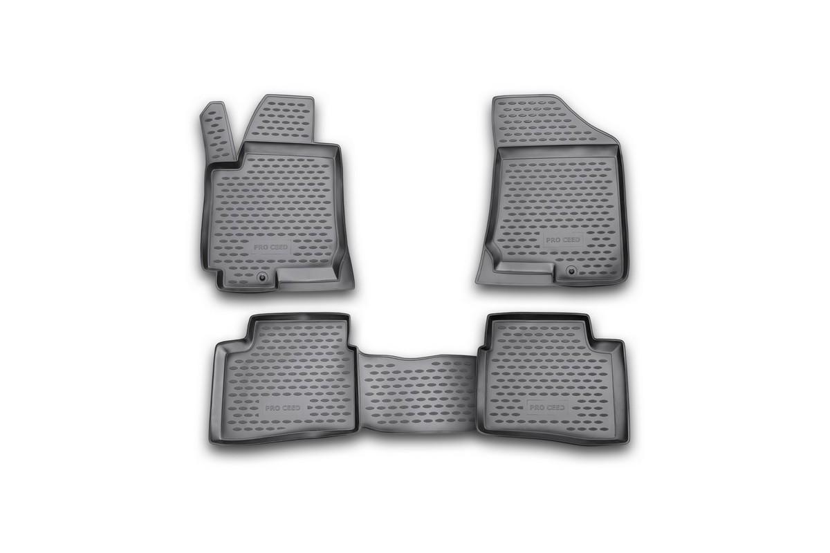 Коврики в салон KIA Pro-Ceed 3D 2008->, 4 шт. (полиуретан)NLC.25.27.210Коврики в салон не только улучшат внешний вид салона вашего автомобиля, но и надежно уберегут его от пыли, грязи и сырости, а значит, защитят кузов от коррозии. Полиуретановые коврики для автомобиля гладкие, приятные и не пропускают влагу. Автомобильные коврики в салон учитывают все особенности каждой модели и полностью повторяют контуры пола. Благодаря этому их не нужно будет подгибать или обрезать. И самое главное — они не будут мешать педалям. Полиуретановые автомобильные коврики для салона произведены из высококачественного материала, который держит форму и не пачкает обувь. К тому же, этот материал очень прочный (его, к примеру, не получится проткнуть каблуком). Некоторые автоковрики становятся источником неприятного запаха в автомобиле. С полиуретановыми ковриками Novline вы можете этого не бояться. Ковры для автомобилей надежно крепятся на полу и не скользят, что очень важно во время движения, особенно для водителя. Автоковры из полиуретана надежно удерживают грязь и влагу, при...