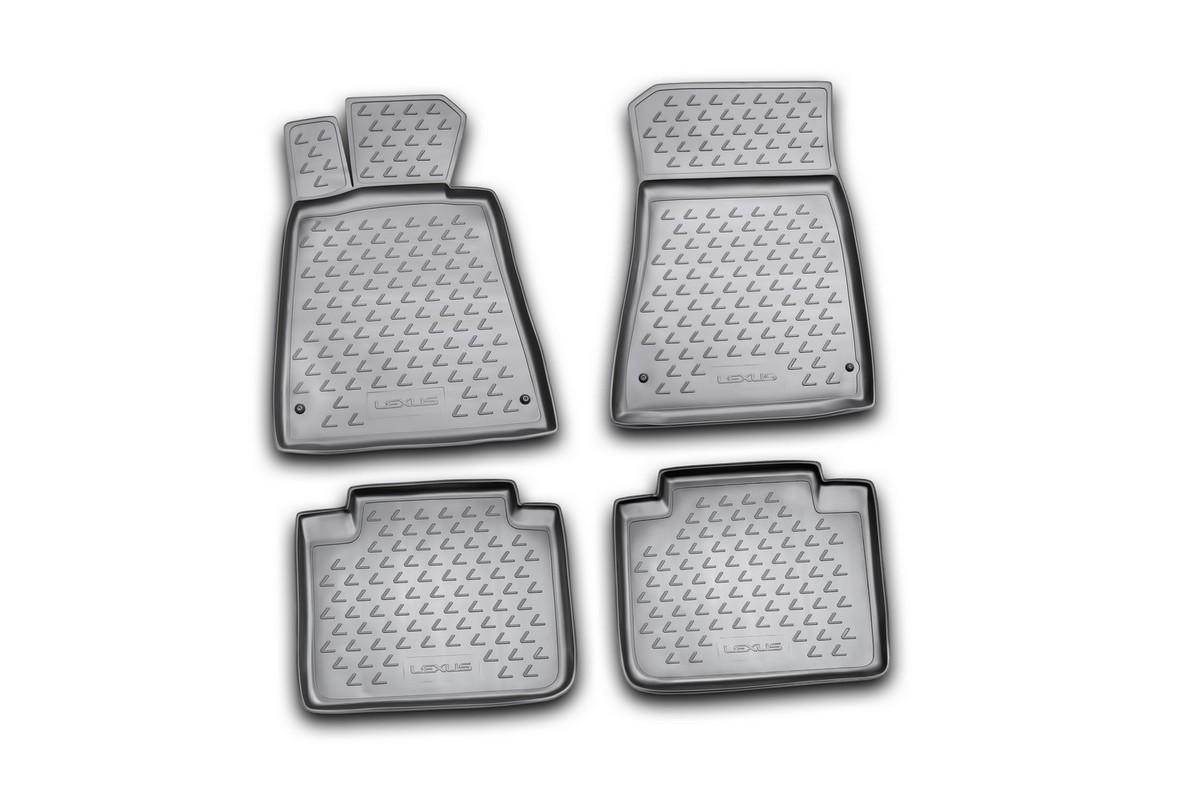 Набор автомобильных ковриков Novline-Autofamily для Lexus GS300 2008-, в салон, цвет: черный, 4 штNLC.29.01.210Набор автомобильных ковриков Novline-Autofamily, изготовленный из полиуретана, состоит из 4 ковриков, которые учитывают все особенности каждой модели автомобиля и полностью повторяют контуры пола. Полиуретановые автомобильные коврики для салона произведены из высококачественного материала, который держит форму, прочный и не пачкает обувь. Коврики в салон не только улучшат внешний вид салона вашего автомобиля, но и надежно уберегут его от пыли, грязи и сырости, а значит, защитят кузов от коррозии. Полиуретановые коврики для автомобиля гладкие, приятные и не пропускают влагу. Ковры для автомобилей надежно крепятся на полу и не скользят, что очень важно во время движения. Чистятся коврики очень просто: как при помощи автомобильного пылесоса, так и различными моющими средствами. Набор подходит для Lexus GS300 с 2008 года выпуска.