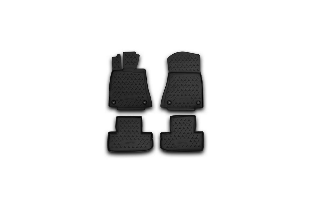 Набор автомобильных ковриков Novline-Autofamily для Lexus RC 350 04/2015-, в салон, 4 штNLC.29.38.210kНабор автомобильных ковриков Novline-Autofamily, изготовленный из полиуретана, состоит из 4 ковриков, которые учитывают все особенности каждой модели автомобиля и полностью повторяют контуры пола. Полиуретановые автомобильные коврики для салона произведены из высококачественного материала, который держит форму, прочный и не пачкает обувь. Коврики в салон не только улучшат внешний вид салона вашего автомобиля, но и надежно уберегут его от пыли, грязи и сырости, а значит, защитят кузов от коррозии. Полиуретановые коврики для автомобиля гладкие, приятные и не пропускают влагу. Ковры для автомобилей надежно крепятся на полу и не скользят, что очень важно во время движения. Чистятся коврики очень просто: как при помощи автомобильного пылесоса, так и различными моющими средствами. Набор подходит для Lexus RC 350 с апреля 2015 года выпуска.