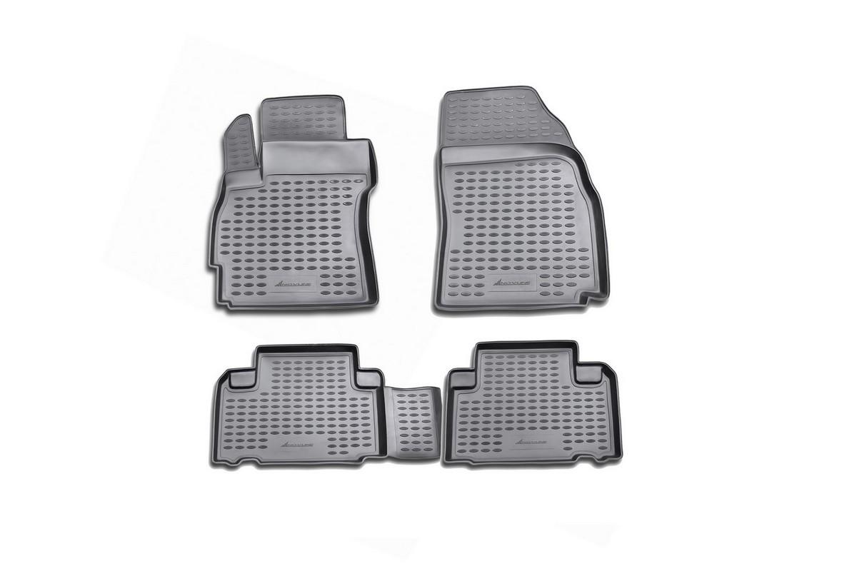Набор автомобильных ковриков Novline-Autofamily для Mazda 5 2005-2010, в салон, 4 шт. NLC.33.10.210NLC.33.10.210Набор автомобильных ковриков Novline-Autofamily, изготовленный из полиуретана, состоит из 4 ковриков, которые учитывают все особенности каждой модели автомобиля и полностью повторяют контуры пола. Полиуретановые автомобильные коврики для салона произведены из высококачественного материала, который держит форму, прочный и не пачкает обувь. Коврики в салон не только улучшат внешний вид салона вашего автомобиля, но и надежно уберегут его от пыли, грязи и сырости, а значит, защитят кузов от коррозии. Полиуретановые коврики для автомобиля гладкие, приятные и не пропускают влагу. Ковры для автомобилей надежно крепятся на полу и не скользят, что очень важно во время движения. Чистятся коврики очень просто: как при помощи автомобильного пылесоса, так и различными моющими средствами. Набор подходит для Mazda 5 2005-2010 годов выпуска.