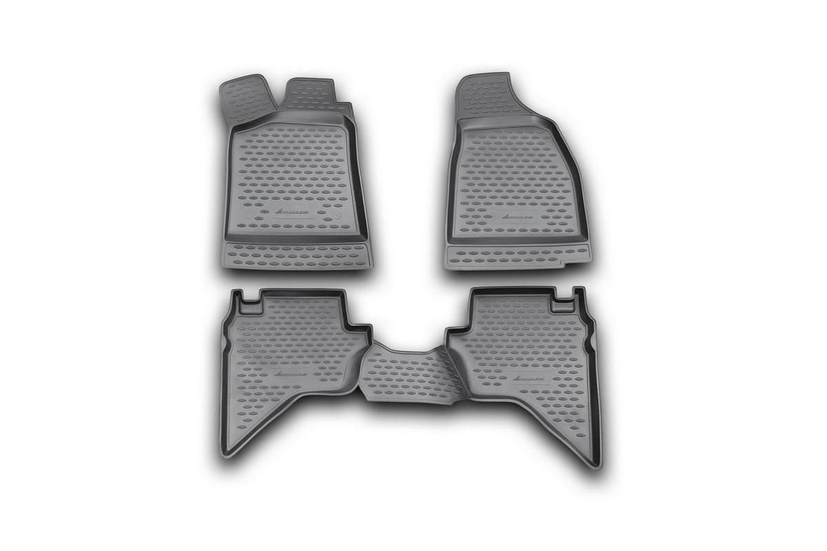 Набор автомобильных ковриков Novline-Autofamily для Mazda BT-50 2006-, в салон, 4 штNLC.33.14.210kНабор автомобильных ковриков Novline-Autofamily, изготовленный из полиуретана, состоит из 4 ковриков, которые учитывают все особенности каждой модели автомобиля и полностью повторяют контуры пола. Полиуретановые автомобильные коврики для салона произведены из высококачественного материала, который держит форму, прочный и не пачкает обувь. Коврики в салон не только улучшат внешний вид салона вашего автомобиля, но и надежно уберегут его от пыли, грязи и сырости, а значит, защитят кузов от коррозии. Полиуретановые коврики для автомобиля гладкие, приятные и не пропускают влагу. Ковры для автомобилей надежно крепятся на полу и не скользят, что очень важно во время движения. Чистятся коврики очень просто: как при помощи автомобильного пылесоса, так и различными моющими средствами. Набор подходит для Mazda BT-50 c 2006 года выпуска.