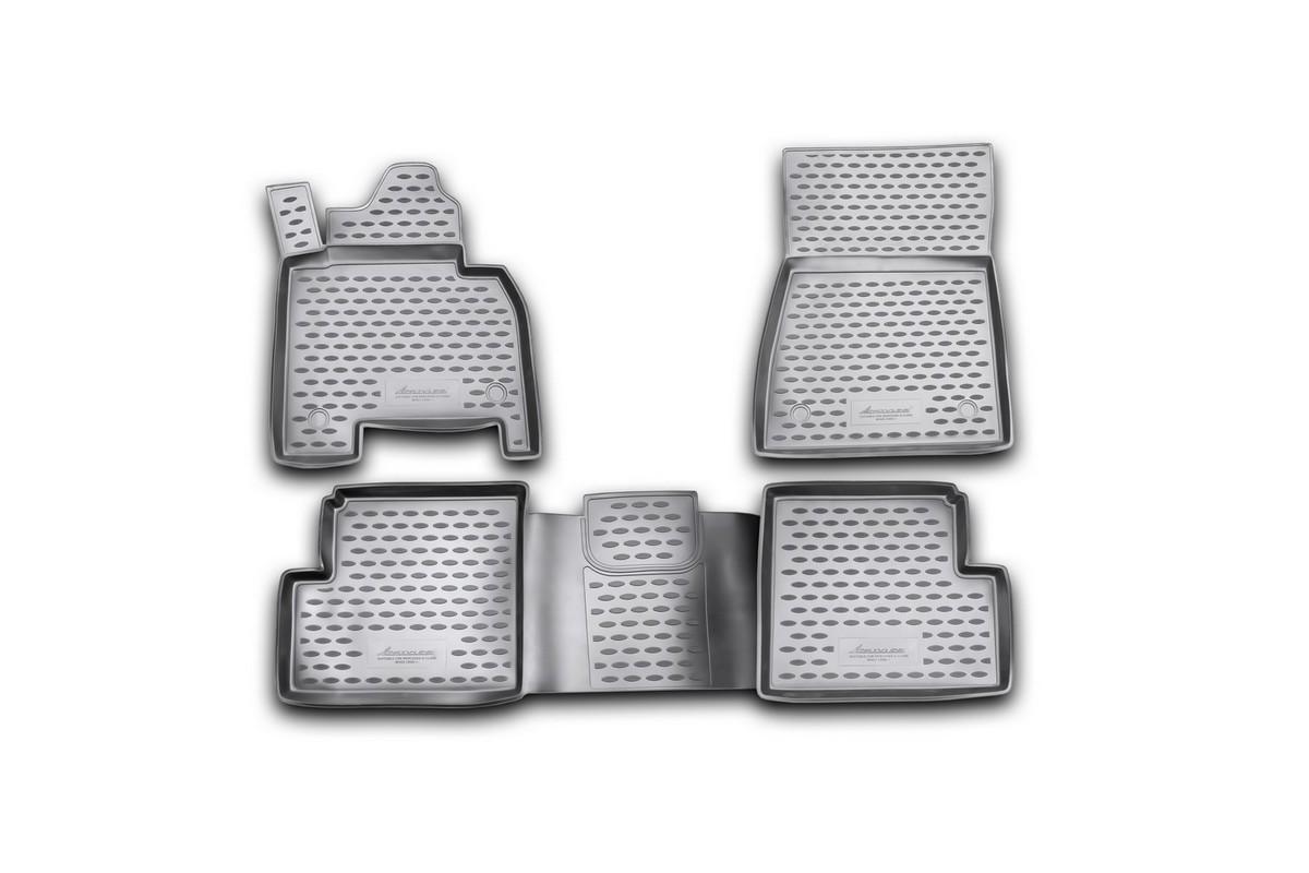 Набор автомобильных ковриков Novline-Autofamily для Mercedes-Benz G-Class W463 2007-, в салон, 4 штNLC.34.20.210kНабор автомобильных ковриков Novline-Autofamily, изготовленный из полиуретана, состоит из 4 ковриков, которые учитывают все особенности каждой модели автомобиля и полностью повторяют контуры пола. Полиуретановые автомобильные коврики для салона произведены из высококачественного материала, который держит форму, прочный и не пачкает обувь. Коврики в салон не только улучшат внешний вид салона вашего автомобиля, но и надежно уберегут его от пыли, грязи и сырости, а значит, защитят кузов от коррозии. Полиуретановые коврики для автомобиля гладкие, приятные и не пропускают влагу. Ковры для автомобилей надежно крепятся на полу и не скользят, что очень важно во время движения. Чистятся коврики очень просто: как при помощи автомобильного пылесоса, так и различными моющими средствами. Набор подходит для Mercedes-Benz G-Class (G-Klasse) W463 с 2007 года выпуска.