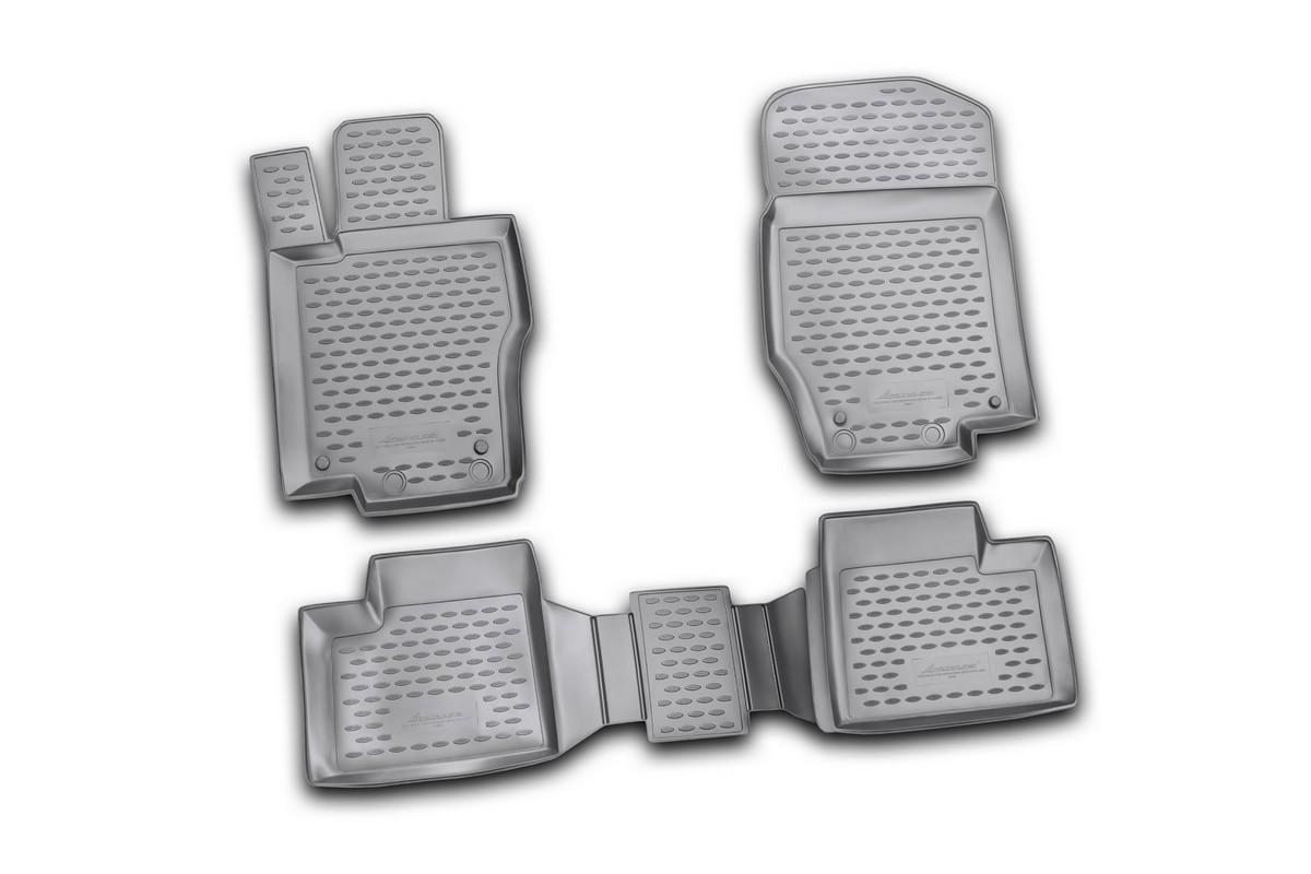 Набор автомобильных ковриков Novline-Autofamily для Mercedes-Benz M-Klasse W164 2006-, в салон, цвет: черный, 4 штNLC.34.23.210kНабор автомобильных ковриков Novline-Autofamily, изготовленный из полиуретана, состоит из 4 ковриков, которые учитывают все особенности каждой модели автомобиля и полностью повторяют контуры пола. Полиуретановые автомобильные коврики для салона произведены из высококачественного материала, который держит форму, прочный и не пачкает обувь. Коврики в салон не только улучшат внешний вид салона вашего автомобиля, но и надежно уберегут его от пыли, грязи и сырости, а значит, защитят кузов от коррозии. Полиуретановые коврики для автомобиля гладкие, приятные и не пропускают влагу. Ковры для автомобилей надежно крепятся на полу и не скользят, что очень важно во время движения. Чистятся коврики очень просто: как при помощи автомобильного пылесоса, так и различными моющими средствами. Набор подходит для Mercedes-Benz M-Klasse W164 с 2006 года выпуска.