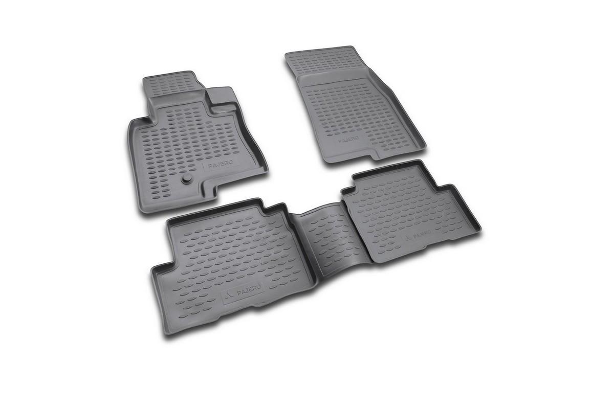 Набор автомобильных ковриков Novline-Autofamily для Mitsubishi Pajero III 5D 1999-2006, в салон, цвет: черный, 4 штNLC.35.05.210Набор автомобильных ковриков Novline-Autofamily, изготовленный из полиуретана, состоит из 4 ковриков, которые учитывают все особенности каждой модели автомобиля и полностью повторяют контуры пола. Полиуретановые автомобильные коврики для салона произведены из высококачественного материала, который держит форму, прочный и не пачкает обувь. Коврики в салон не только улучшат внешний вид салона вашего автомобиля, но и надежно уберегут его от пыли, грязи и сырости, а значит, защитят кузов от коррозии. Полиуретановые коврики для автомобиля гладкие, приятные и не пропускают влагу. Ковры для автомобилей надежно крепятся на полу и не скользят, что очень важно во время движения. Чистятся коврики очень просто: как при помощи автомобильного пылесоса, так и различными моющими средствами. Набор подходит для Mitsubishi Pajero III 5D 1999-2006 годов выпуска.