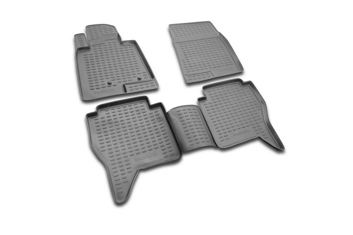 Набор автомобильных ковриков Novline-Autofamily для Mitsubishi Pajero IV 2006-, в салон, 4 штNLC.35.16.210Набор автомобильных ковриков Novline-Autofamily, изготовленный из полиуретана, состоит из 4 ковриков, которые учитывают все особенности каждой модели автомобиля и полностью повторяют контуры пола. Полиуретановые автомобильные коврики для салона произведены из высококачественного материала, который держит форму, прочный и не пачкает обувь. Коврики в салон не только улучшат внешний вид салона вашего автомобиля, но и надежно уберегут его от пыли, грязи и сырости, а значит, защитят кузов от коррозии. Полиуретановые коврики для автомобиля гладкие, приятные и не пропускают влагу. Ковры для автомобилей надежно крепятся на полу и не скользят, что очень важно во время движения. Чистятся коврики очень просто: как при помощи автомобильного пылесоса, так и различными моющими средствами. Набор подходит для Mitsubishi Pajero IV с 2006 года выпуска.