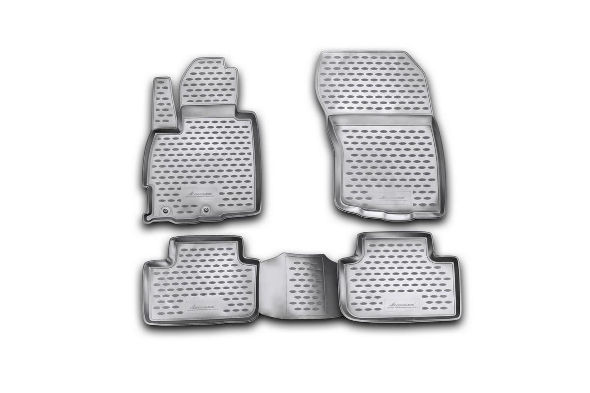 Набор автомобильных ковриков Novline-Autofamily для Mitsubishi ASX 06/2010-, в салон, 4 штNLC.35.25.210kНабор автомобильных ковриков Novline-Autofamily, изготовленный из полиуретана, состоит из 4 ковриков, которые учитывают все особенности каждой модели автомобиля и полностью повторяют контуры пола. Полиуретановые автомобильные коврики для салона произведены из высококачественного материала, который держит форму, прочный и не пачкает обувь. Коврики в салон не только улучшат внешний вид салона вашего автомобиля, но и надежно уберегут его от пыли, грязи и сырости, а значит, защитят кузов от коррозии. Полиуретановые коврики для автомобиля гладкие, приятные и не пропускают влагу. Ковры для автомобилей надежно крепятся на полу и не скользят, что очень важно во время движения. Чистятся коврики очень просто: как при помощи автомобильного пылесоса, так и различными моющими средствами. Набор подходит для Mitsubishi ASX с июня 2010 года выпуска.