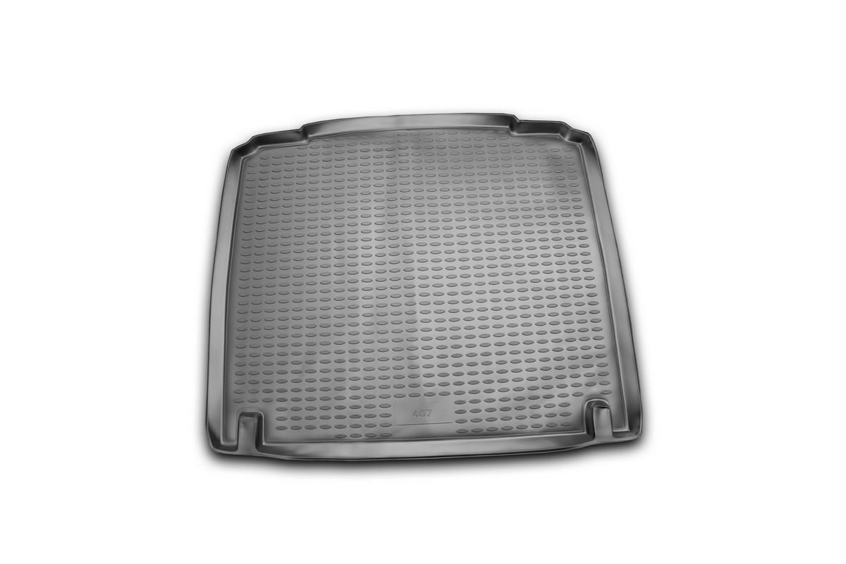 Коврик автомобильный Novline-Autofamily для Peugeot 407 седан 2004-, в багажникNLC.38.04.B10Автомобильный коврик Novline-Autofamily, изготовленный из полиуретана, позволит вам без особых усилий содержать в чистоте багажный отсек вашего авто и при этом перевозить в нем абсолютно любые грузы. Этот модельный коврик идеально подойдет по размерам багажнику вашего автомобиля. Такой автомобильный коврик гарантированно защитит багажник от грязи, мусора и пыли, которые постоянно скапливаются в этом отсеке. А кроме того, поддон не пропускает влагу. Все это надолго убережет важную часть кузова от износа. Коврик в багажнике сильно упростит для вас уборку. Согласитесь, гораздо проще достать и почистить один коврик, нежели весь багажный отсек. Тем более, что поддон достаточно просто вынимается и вставляется обратно. Мыть коврик для багажника из полиуретана можно любыми чистящими средствами или просто водой. При этом много времени у вас уборка не отнимет, ведь полиуретан устойчив к загрязнениям. Если вам приходится перевозить в багажнике тяжелые грузы,...