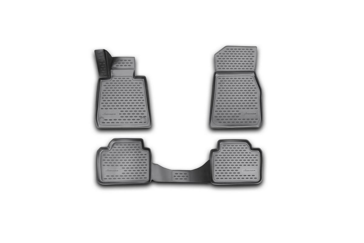 Набор автомобильных 3D-ковриков Novline-Autofamily для BMW F30, 2012->, в салон, 4 штNLC.3D.05.31.210kНабор Novline-Autofamily состоит из 4 ковриков, изготовленных из полиуретана. Основная функция ковров - защита салона автомобиля от загрязнения и влаги. Это достигается за счет высоких бортов, перемычки на тоннель заднего ряда сидений, элементов формы и текстуры, свойств материала, а также запатентованной технологией 3D-перемычки в зоне отдыха ноги водителя, что обеспечивает дополнительную защиту, сохраняя салон автомобиля в первозданном виде. Материал, из которого сделаны коврики, обладает антискользящими свойствами. Для фиксации ковров в салоне автомобиля в комплекте с ними используются специальные крепежи. Форма передней части водительского ковра, уходящая под педаль акселератора, исключает нештатное заедание педалей. Набор подходит для BMW F30 с 2012 года выпуска.