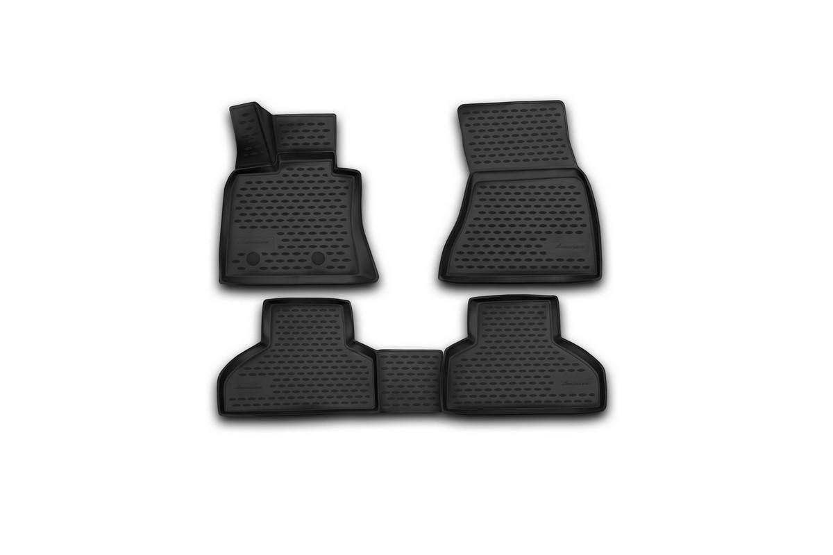Набор автомобильных 3D-ковриков Novline-Autofamily для BMW X5, 2013->, в салон, 4 штNLC.3D.05.38.210kНабор Novline-Autofamily состоит из 4 ковриков, изготовленных из полиуретана. Основная функция ковров - защита салона автомобиля от загрязнения и влаги. Это достигается за счет высоких бортов, перемычки на тоннель заднего ряда сидений, элементов формы и текстуры, свойств материала, а также запатентованной технологией 3D-перемычки в зоне отдыха ноги водителя, что обеспечивает дополнительную защиту, сохраняя салон автомобиля в первозданном виде. Материал, из которого сделаны коврики, обладает антискользящими свойствами. Для фиксации ковров в салоне автомобиля в комплекте с ними используются специальные крепежи. Форма передней части водительского ковра, уходящая под педаль акселератора, исключает нештатное заедание педалей. Набор подходит для BMW X5 с 2013 года выпуска.