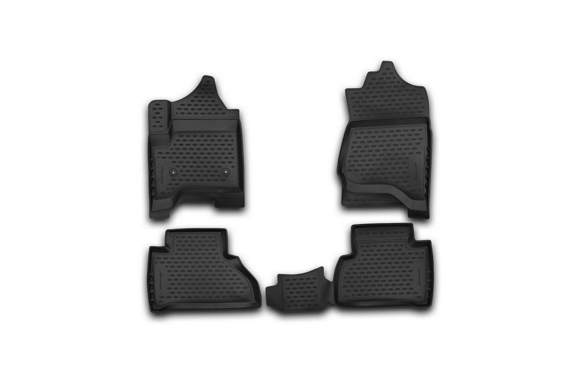 Набор автомобильных 3D-ковриков Novline-Autofamily для Cadillac Escalade, 2015->, в салон, 4 штNLC.3D.07.10.210kНабор Novline-Autofamily состоит из 4 ковриков, изготовленных из полиуретана. Основная функция ковров - защита салона автомобиля от загрязнения и влаги. Это достигается за счет высоких бортов, перемычки на тоннель заднего ряда сидений, элементов формы и текстуры, свойств материала, а также запатентованной технологией 3D-перемычки в зоне отдыха ноги водителя, что обеспечивает дополнительную защиту, сохраняя салон автомобиля в первозданном виде. Материал, из которого сделаны коврики, обладает антискользящими свойствами. Для фиксации ковров в салоне автомобиля в комплекте с ними используются специальные крепежи. Форма передней части водительского ковра, уходящая под педаль акселератора, исключает нештатное заедание педалей. Набор подходит для Cadillac Escalade с 2015 года выпуска.