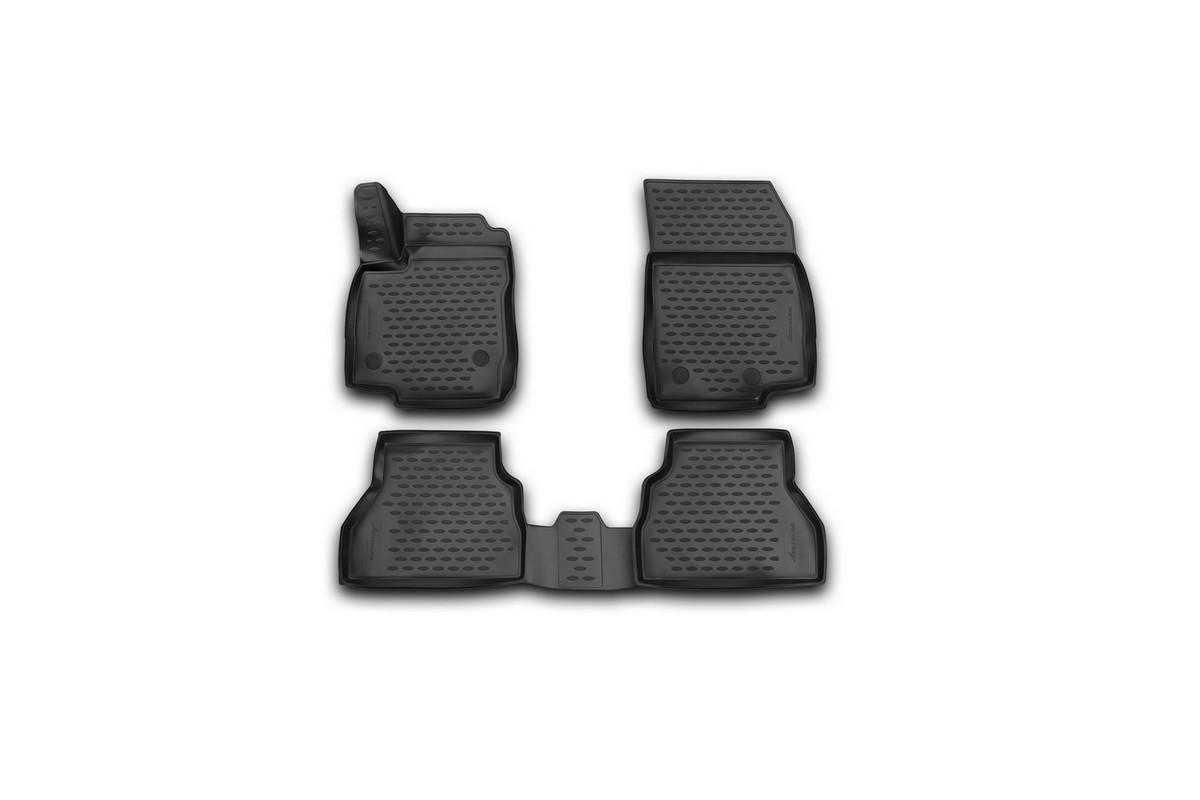 Набор автомобильных 3D-ковриков Novline-Autofamily для Ford B-max, 2014->, хэтчбек, в салон, 4 штNLC.3D.16.64.210kНабор Novline-Autofamily состоит из 4 ковриков, изготовленных из полиуретана. Основная функция ковров - защита салона автомобиля от загрязнения и влаги. Это достигается за счет высоких бортов, перемычки на тоннель заднего ряда сидений, элементов формы и текстуры, свойств материала, а также запатентованной технологией 3D-перемычки в зоне отдыха ноги водителя, что обеспечивает дополнительную защиту, сохраняя салон автомобиля в первозданном виде. Материал, из которого сделаны коврики, обладает антискользящими свойствами. Для фиксации ковров в салоне автомобиля в комплекте с ними используются специальные крепежи. Форма передней части водительского ковра, уходящая под педаль акселератора, исключает нештатное заедание педалей. Набор подходит для Ford B-max хэтчбек с 2014 года выпуска.