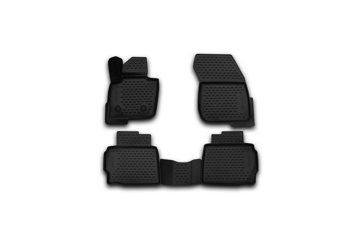 Набор автомобильных 3D-ковриков Novline-Autofamily для Ford Mondeo, 2001-2015, в салон, 4 штNLC.3D.16.66.210kНабор Novline-Autofamily состоит из 4 ковриков, изготовленных из полиуретана. Основная функция ковров — защита салона автомобиля от загрязнения и влаги. Это достигается за счет высоких бортов, перемычки на тоннель заднего ряда сидений, элементов формы и текстуры, свойств материала, а также запатентованной технологией 3D-перемычки в зоне отдыха ноги водителя, что обеспечивает дополнительную защиту, сохраняя салон автомобиля в первозданном виде. Материал, из которого сделаны коврики, обладает антискользящими свойствами. Для фиксации ковров в салоне автомобиля в комплекте с ними используются специальные крепежи. Форма передней части водительского ковра, уходящая под педаль акселератора, исключает нештатное заедание педалей. Набор подходит для Ford Mondeo 2001-2015 годов выпуска.