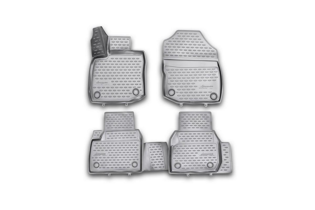 Набор автомобильных 3D-ковриков Novline-Autofamily для Honda Civic 5D, 2012->, хэтчбек, в салон, 4 штNLC.3D.18.26.210khНабор Novline-Autofamily состоит из 4 ковриков, изготовленных из полиуретана. Основная функция ковров - защита салона автомобиля от загрязнения и влаги. Это достигается за счет высоких бортов, перемычки на тоннель заднего ряда сидений, элементов формы и текстуры, свойств материала, а также запатентованной технологией 3D-перемычки в зоне отдыха ноги водителя, что обеспечивает дополнительную защиту, сохраняя салон автомобиля в первозданном виде. Материал, из которого сделаны коврики, обладает антискользящими свойствами. Для фиксации ковров в салоне автомобиля в комплекте с ними используются специальные крепежи. Форма передней части водительского ковра, уходящая под педаль акселератора, исключает нештатное заедание педалей. Набор подходит для Honda Civic хэтчбек с 2012 года выпуска.