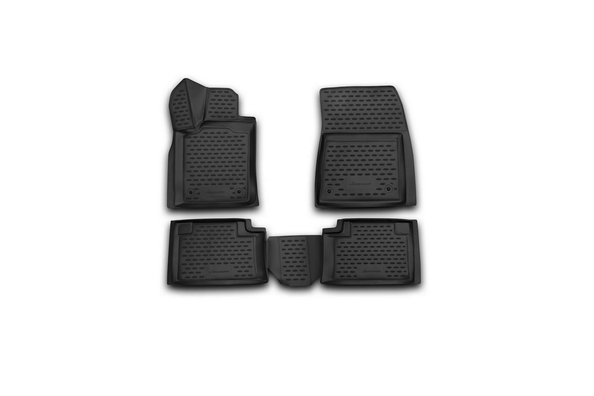 Набор автомобильных 3D-ковриков Novline-Autofamily для Jeep Grand Cherokee, 2014->, в салон, 4 штNLC.3D.24.09.210Набор Novline-Autofamily состоит из 4 ковриков, изготовленных из полиуретана. Основная функция ковров - защита салона автомобиля от загрязнения и влаги. Это достигается за счет высоких бортов, перемычки на тоннель заднего ряда сидений, элементов формы и текстуры, свойств материала, а также запатентованной технологией 3D-перемычки в зоне отдыха ноги водителя, что обеспечивает дополнительную защиту, сохраняя салон автомобиля в первозданном виде. Материал, из которого сделаны коврики, обладает антискользящими свойствами. Для фиксации ковров в салоне автомобиля в комплекте с ними используются специальные крепежи. Форма передней части водительского ковра, уходящая под педаль акселератора, исключает нештатное заедание педалей. Набор подходит для Jeep Grand Cherokee с 2014 года выпуска.