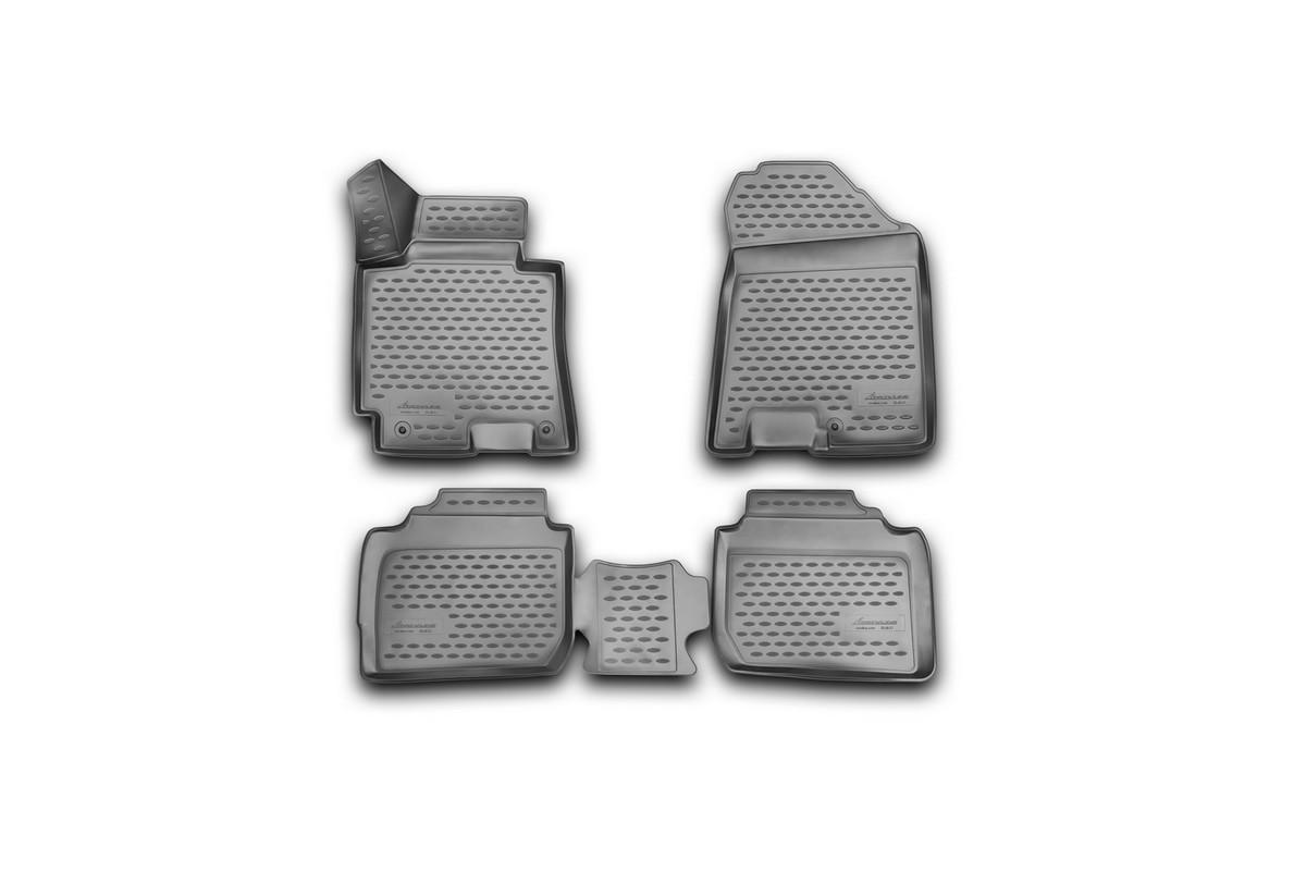 Набор автомобильных 3D-ковриков Novline-Autofamily для Kia Cerato, 2013->, в салон, 4 штNLC.3D.25.48.210Набор Novline-Autofamily состоит из 4 ковриков, изготовленных из полиуретана. Основная функция ковров - защита салона автомобиля от загрязнения и влаги. Это достигается за счет высоких бортов, перемычки на тоннель заднего ряда сидений, элементов формы и текстуры, свойств материала, а также запатентованной технологией 3D-перемычки в зоне отдыха ноги водителя, что обеспечивает дополнительную защиту, сохраняя салон автомобиля в первозданном виде. Материал, из которого сделаны коврики, обладает антискользящими свойствами. Для фиксации ковров в салоне автомобиля в комплекте с ними используются специальные крепежи. Форма передней части водительского ковра, уходящая под педаль акселератора, исключает нештатное заедание педалей. Набор подходит для Kia Cerato с 2013 года выпуска.