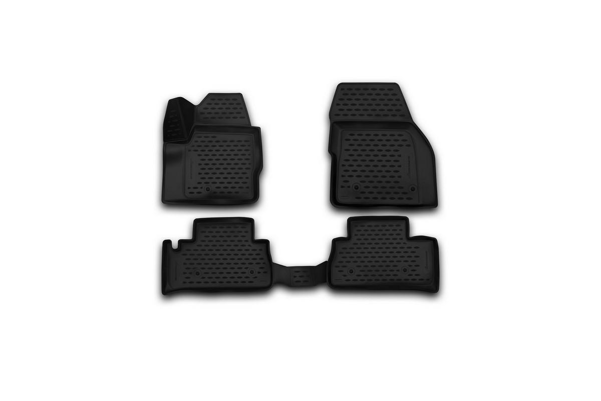 Набор автомобильных 3D-ковриков Novline-Autofamily для Land Rover Freelander 2, 2013->, в салон, 4 штNLC.3D.28.15.210Набор Novline-Autofamily состоит из 4 ковриков, изготовленных из полиуретана. Основная функция ковров - защита салона автомобиля от загрязнения и влаги. Это достигается за счет высоких бортов, перемычки на тоннель заднего ряда сидений, элементов формы и текстуры, свойств материала, а также запатентованной технологией 3D-перемычки в зоне отдыха ноги водителя, что обеспечивает дополнительную защиту, сохраняя салон автомобиля в первозданном виде. Материал, из которого сделаны коврики, обладает антискользящими свойствами. Для фиксации ковров в салоне автомобиля в комплекте с ними используются специальные крепежи. Форма передней части водительского ковра, уходящая под педаль акселератора, исключает нештатное заедание педалей. Набор подходит для Land Rover Freelander 2 с 2013 года выпуска.