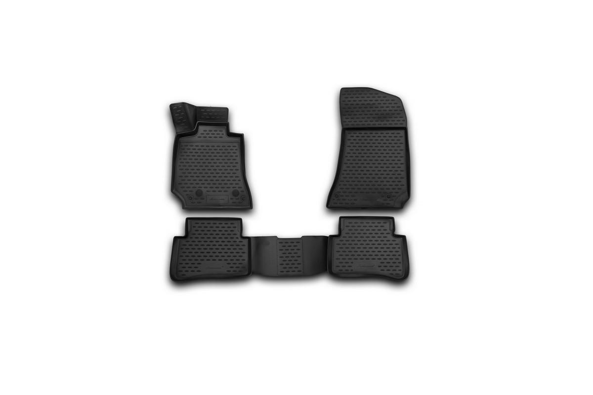 Набор автомобильных 3D-ковриков Novline-Autofamily для Mersedes-Benz E-Class (W212), 2014->, седан, в салон, 4 штNLC.3D.34.42.210kНабор Novline-Autofamily состоит из 4 ковриков, изготовленных из полиуретана. Основная функция ковров - защита салона автомобиля от загрязнения и влаги. Это достигается за счет высоких бортов, перемычки на тоннель заднего ряда сидений, элементов формы и текстуры, свойств материала, а также запатентованной технологией 3D-перемычки в зоне отдыха ноги водителя, что обеспечивает дополнительную защиту, сохраняя салон автомобиля в первозданном виде. Материал, из которого сделаны коврики, обладает антискользящими свойствами. Для фиксации ковров в салоне автомобиля в комплекте с ними используются специальные крепежи. Форма передней части водительского ковра, уходящая под педаль акселератора, исключает нештатное заедание педалей. Набор подходит для Mersedes-Benz E-Class (W212) седан с 2014 года выпуска.