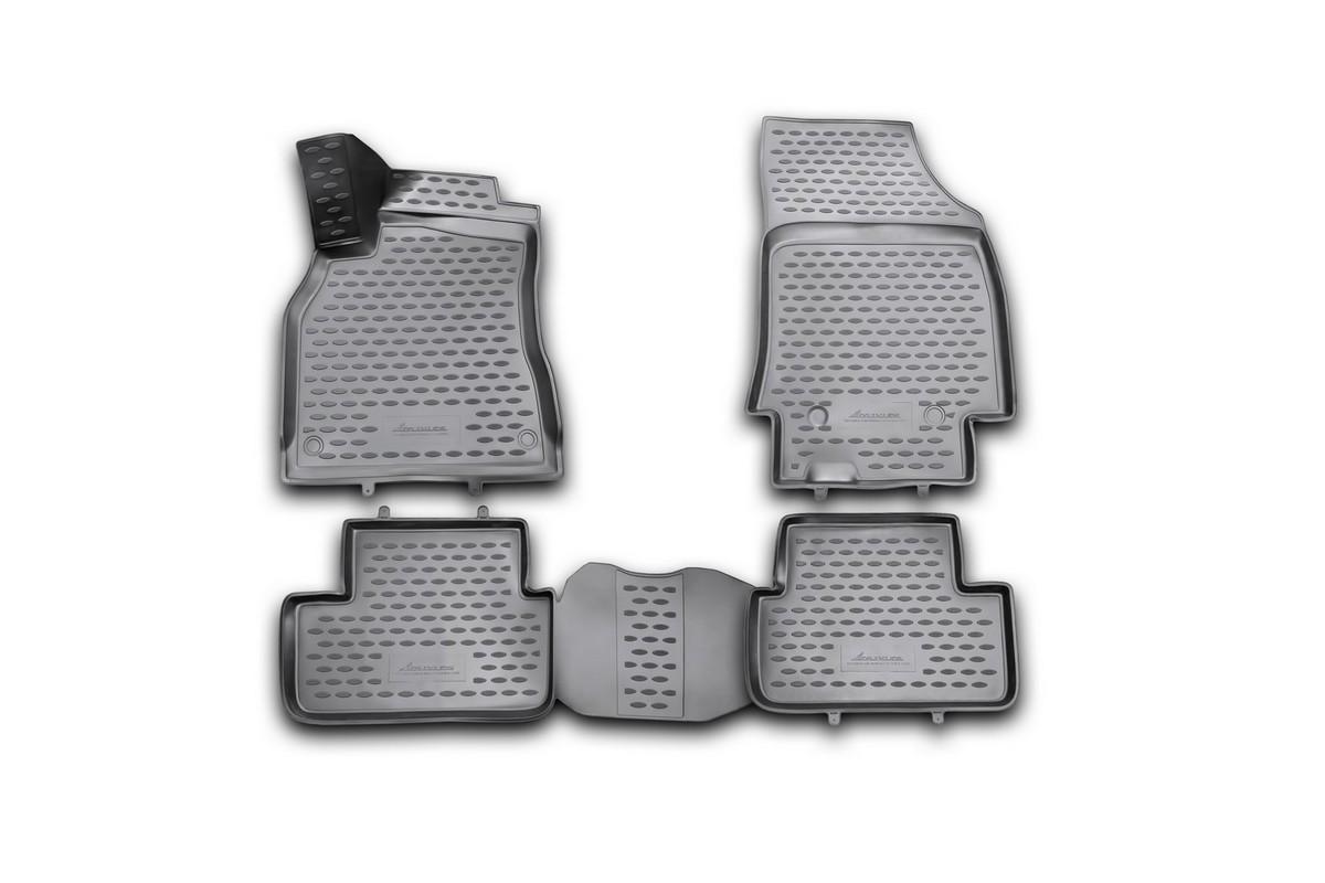 Набор автомобильных 3D-ковриков Novline-Autofamily для Renault Fluence, 2010->, в салон, 4 штNLC.3D.41.19.210kНабор Novline-Autofamily состоит из 4 ковриков, изготовленных из полиуретана. Основная функция ковров - защита салона автомобиля от загрязнения и влаги. Это достигается за счет высоких бортов, перемычки на тоннель заднего ряда сидений, элементов формы и текстуры, свойств материала, а также запатентованной технологией 3D-перемычки в зоне отдыха ноги водителя, что обеспечивает дополнительную защиту, сохраняя салон автомобиля в первозданном виде. Материал, из которого сделаны коврики, обладает антискользящими свойствами. Для фиксации ковров в салоне автомобиля в комплекте с ними используются специальные крепежи. Форма передней части водительского ковра, уходящая под педаль акселератора, исключает нештатное заедание педалей. Набор подходит для Renault Fluence с 2010 года выпуска.