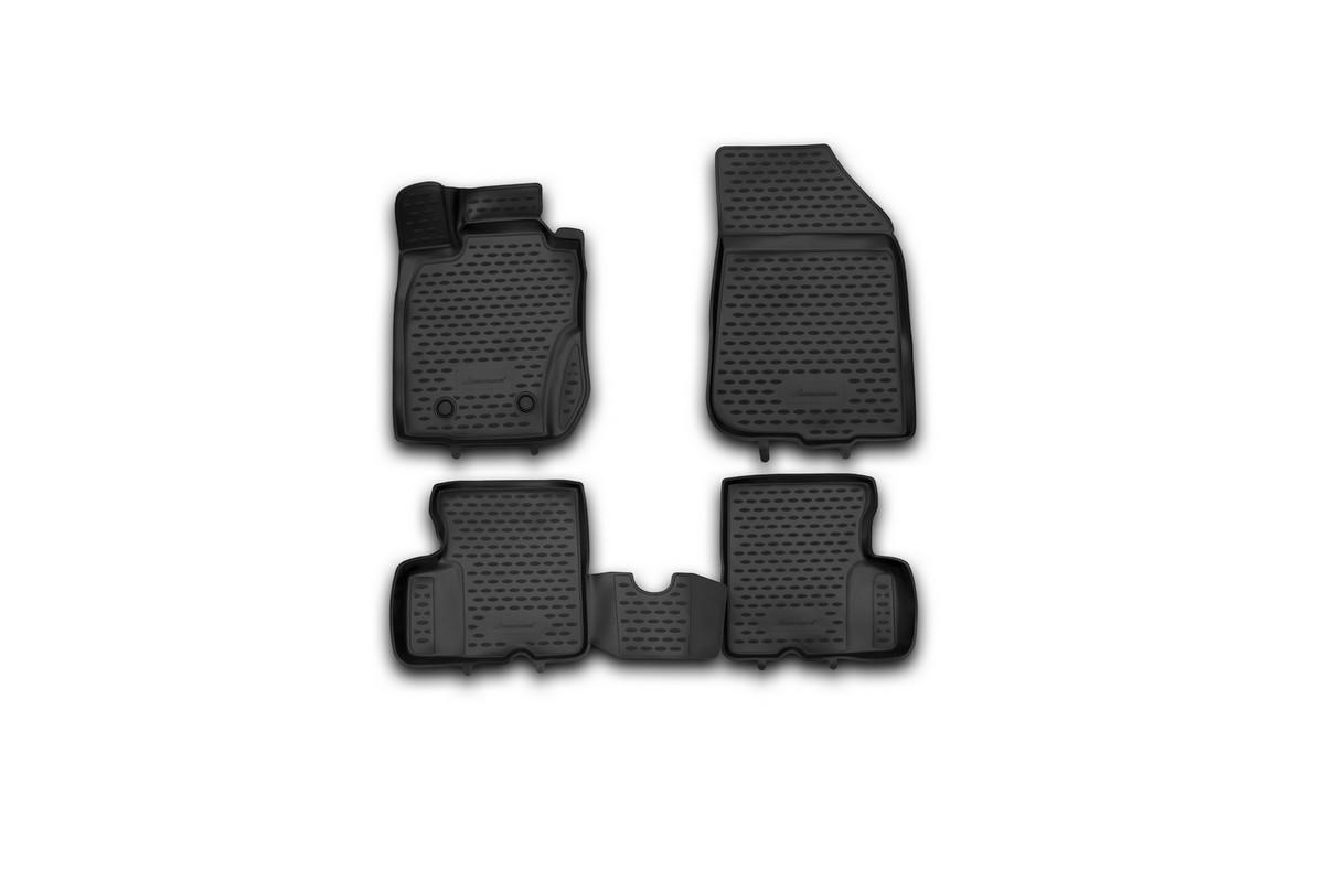 Набор автомобильных 3D-ковриков Novline-Autofamily для Renault Duster 4WD, 2011-2015, в салон, 4 штNLC.3D.41.28.210khНабор Novline-Autofamily состоит из 4 ковриков, изготовленных из полиуретана. Основная функция ковров - защита салона автомобиля от загрязнения и влаги. Это достигается за счет высоких бортов, перемычки на тоннель заднего ряда сидений, элементов формы и текстуры, свойств материала, а также запатентованной технологией 3D-перемычки в зоне отдыха ноги водителя, что обеспечивает дополнительную защиту, сохраняя салон автомобиля в первозданном виде. Материал, из которого сделаны коврики, обладает антискользящими свойствами. Для фиксации ковров в салоне автомобиля в комплекте с ними используются специальные крепежи. Форма передней части водительского ковра, уходящая под педаль акселератора, исключает нештатное заедание педалей. Набор подходит для Renault Duster 4WD 2011-2015 года выпуска.