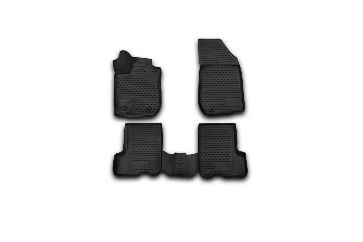 Набор автомобильных 3D-ковриков Novline-Autofamily для Renault Sandero/Sandero Stepway, 2014->, в салон, 4 штNLC.3D.41.32.210kНабор Novline-Autofamily состоит из 4 ковриков, изготовленных из полиуретана. Основная функция ковров - защита салона автомобиля от загрязнения и влаги. Это достигается за счет высоких бортов, перемычки на тоннель заднего ряда сидений, элементов формы и текстуры, свойств материала, а также запатентованной технологией 3D-перемычки в зоне отдыха ноги водителя, что обеспечивает дополнительную защиту, сохраняя салон автомобиля в первозданном виде. Материал, из которого сделаны коврики, обладает антискользящими свойствами. Для фиксации ковров в салоне автомобиля в комплекте с ними используются специальные крепежи. Форма передней части водительского ковра, уходящая под педаль акселератора, исключает нештатное заедание педалей. Набор подходит для Renault Sandero/Sandero Stepway c 2014 года выпуска.