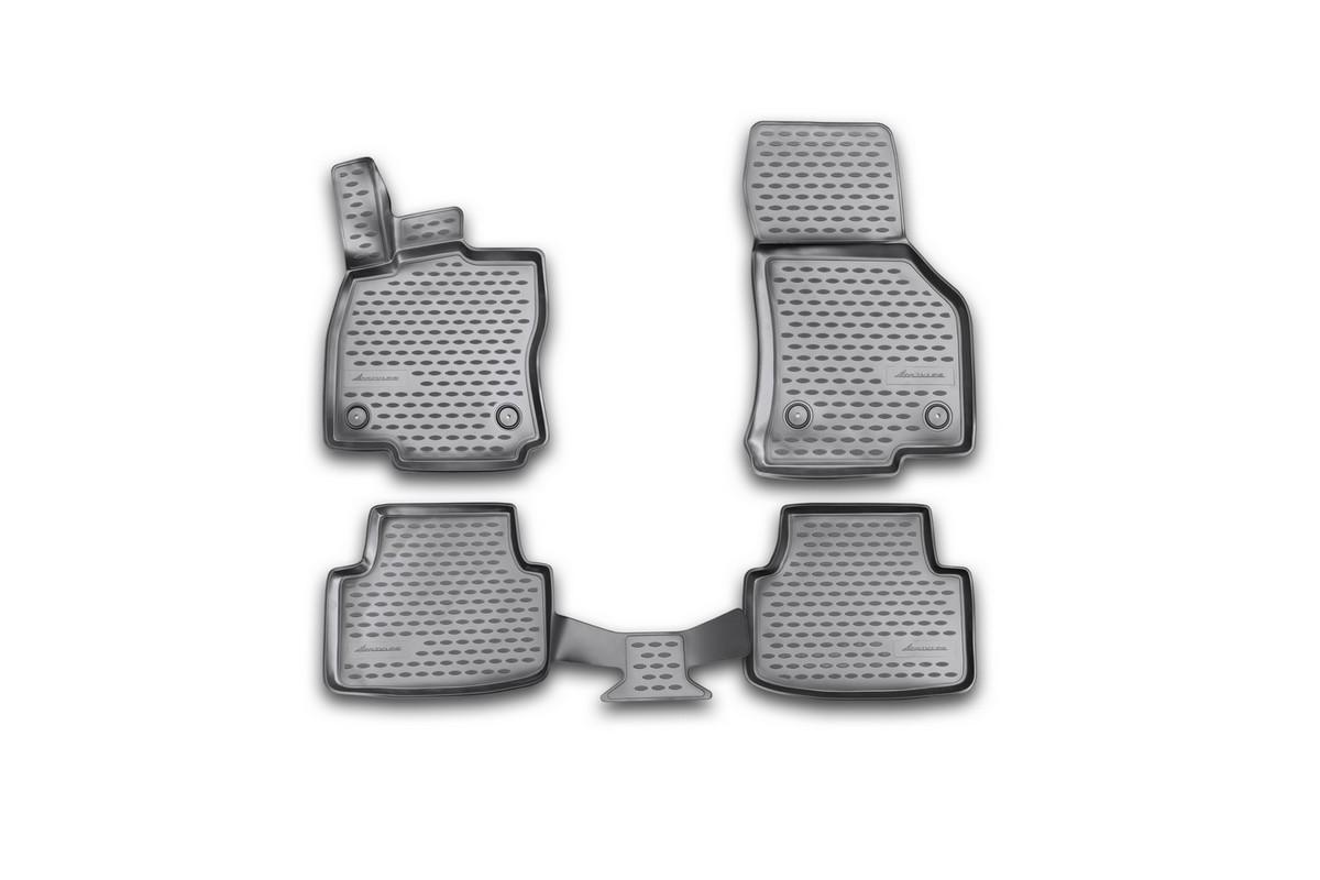 Набор автомобильных 3D-ковриков Novline-Autofamily для Skoda Octavia, 2013->, в салон, 4 штNLC.3D.45.16.210kНабор Novline-Autofamily состоит из 4 ковриков, изготовленных из полиуретана. Основная функция ковров - защита салона автомобиля от загрязнения и влаги. Это достигается за счет высоких бортов, перемычки на тоннель заднего ряда сидений, элементов формы и текстуры, свойств материала, а также запатентованной технологией 3D-перемычки в зоне отдыха ноги водителя, что обеспечивает дополнительную защиту, сохраняя салон автомобиля в первозданном виде. Материал, из которого сделаны коврики, обладает антискользящими свойствами. Для фиксации ковров в салоне автомобиля в комплекте с ними используются специальные крепежи. Форма передней части водительского ковра, уходящая под педаль акселератора, исключает нештатное заедание педалей. Набор подходит для Skoda Octavia с 2013 года выпуска.