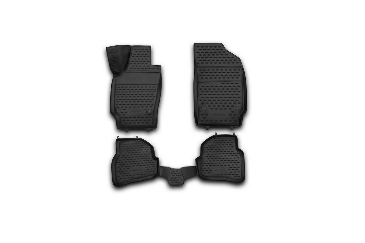 Набор автомобильных 3D-ковриков Novline-Autofamily для Volkswagen Polo, 2009->, хэтчбек, в салон, 4 штNLC.3D.51.28.210khНабор Novline-Autofamily состоит из 4 ковриков, изготовленных из полиуретана. Основная функция ковров - защита салона автомобиля от загрязнения и влаги. Это достигается за счет высоких бортов, перемычки на тоннель заднего ряда сидений, элементов формы и текстуры, свойств материала, а также запатентованной технологией 3D-перемычки в зоне отдыха ноги водителя, что обеспечивает дополнительную защиту, сохраняя салон автомобиля в первозданном виде. Материал, из которого сделаны коврики, обладает антискользящими свойствами. Для фиксации ковров в салоне автомобиля в комплекте с ними используются специальные крепежи. Форма передней части водительского ковра, уходящая под педаль акселератора, исключает нештатное заедание педалей. Набор подходит для Volkswagen Polo хэтчбек с 2009 года выпуска.