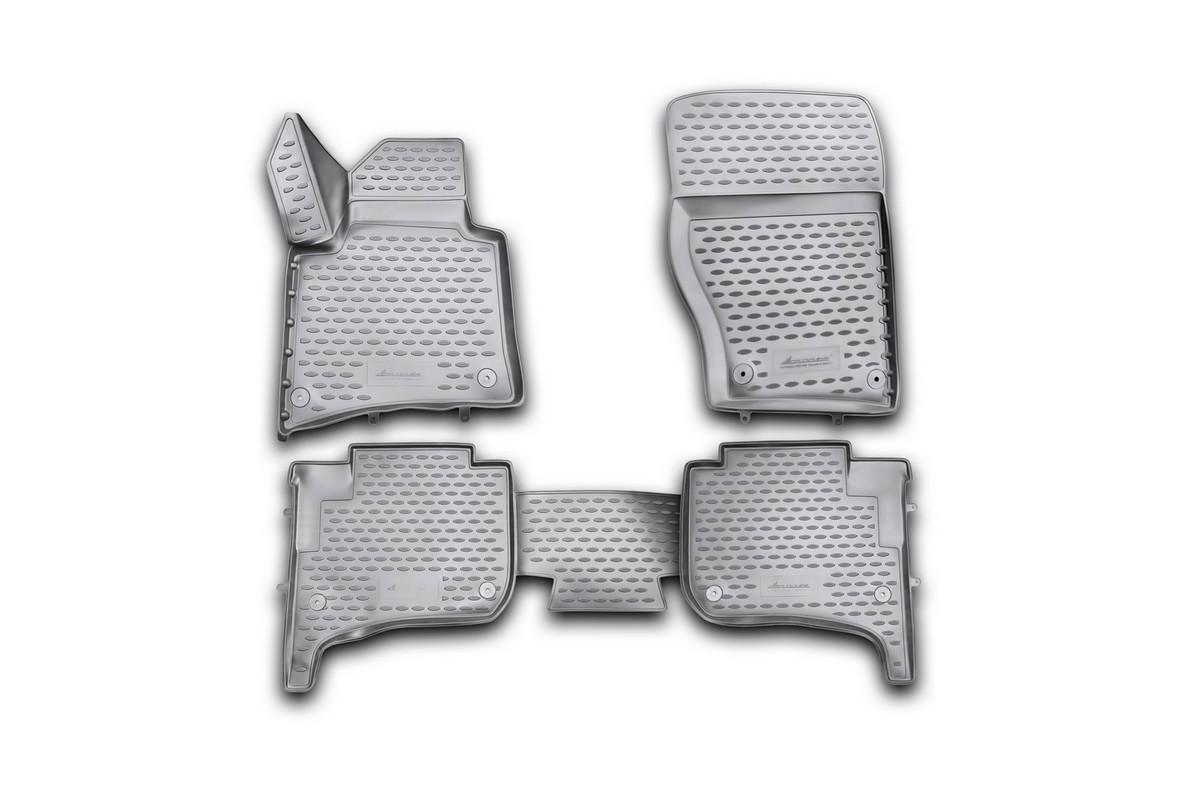 Набор автомобильных 3D-ковриков Novline-Autofamily для Volkswagen Touareg, 2010-2015, 2015->, в салон, 4 штNLC.3D.51.31.210kНабор Novline-Autofamily состоит из 4 ковриков, изготовленных из полиуретана. Основная функция ковров - защита салона автомобиля от загрязнения и влаги. Это достигается за счет высоких бортов, перемычки на тоннель заднего ряда сидений, элементов формы и текстуры, свойств материала, а также запатентованной технологией 3D-перемычки в зоне отдыха ноги водителя, что обеспечивает дополнительную защиту, сохраняя салон автомобиля в первозданном виде. Материал, из которого сделаны коврики, обладает антискользящими свойствами. Для фиксации ковров в салоне автомобиля в комплекте с ними используются специальные крепежи. Форма передней части водительского ковра, уходящая под педаль акселератора, исключает нештатное заедание педалей. Набор подходит для Volkswagen Touareg 2010-2015, 2015-> года выпуска.