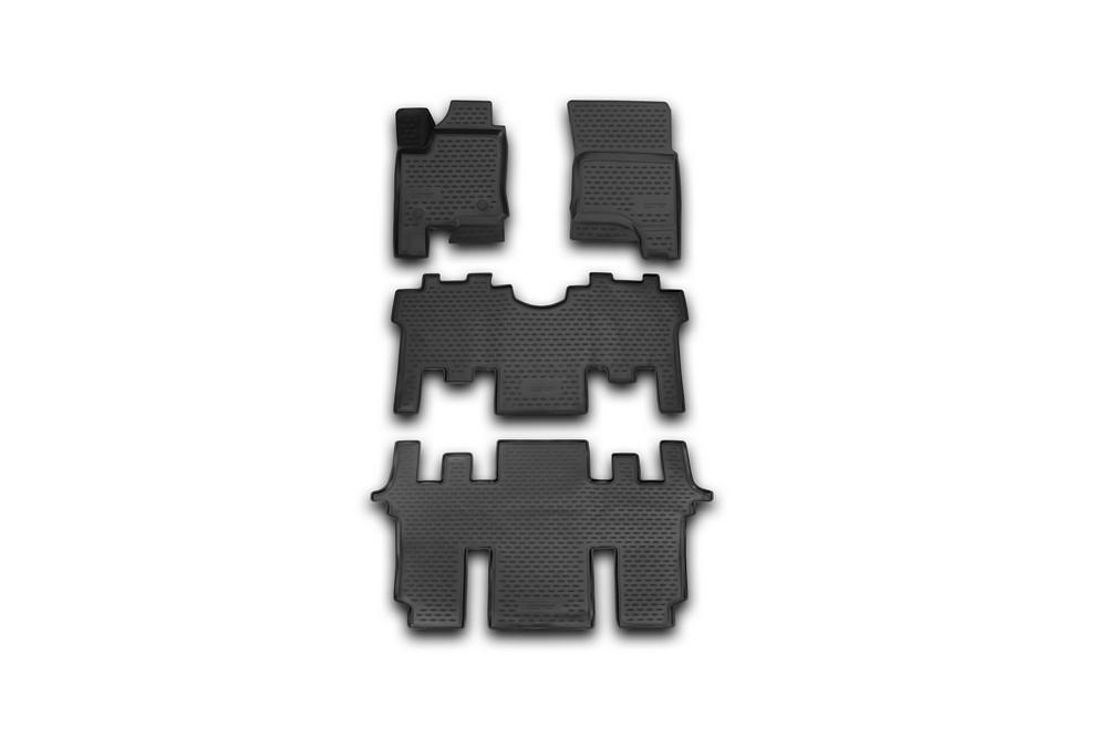 Набор автомобильных 3D-ковриков Novline-Autofamily для SsangYong Stavic, 2013->, в салон, 4 штNLC.3D.61.04.210kНабор Novline-Autofamily состоит из 4 ковриков, изготовленных из полиуретана. Основная функция ковров - защита салона автомобиля от загрязнения и влаги. Это достигается за счет высоких бортов, перемычки на тоннель заднего ряда сидений, элементов формы и текстуры, свойств материала, а также запатентованной технологией 3D-перемычки в зоне отдыха ноги водителя, что обеспечивает дополнительную защиту, сохраняя салон автомобиля в первозданном виде. Материал, из которого сделаны коврики, обладает антискользящими свойствами. Для фиксации ковров в салоне автомобиля в комплекте с ними используются специальные крепежи. Форма передней части водительского ковра, уходящая под педаль акселератора, исключает нештатное заедание педалей. Набор подходит для SsangYong Stavic с 2013 года выпуска.
