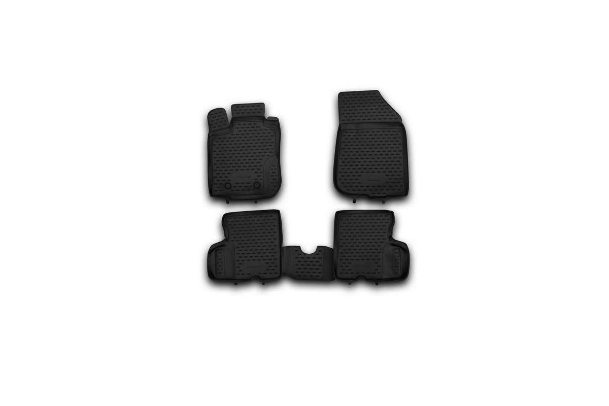 Набор автомобильных ковриков Novline-Autofamily для Renault Duster 4WD 2011-2015, в салон, 4 штNLC.41.28.210khНабор автомобильных ковриков Novline-Autofamily, изготовленный из полиуретана, состоит из 4 ковриков, которые учитывают все особенности каждой модели автомобиля и полностью повторяют контуры пола. Полиуретановые автомобильные коврики для салона произведены из высококачественного материала, который держит форму, прочный и не пачкает обувь. Коврики в салон не только улучшат внешний вид салона вашего автомобиля, но и надежно уберегут его от пыли, грязи и сырости, а значит, защитят кузов от коррозии. Полиуретановые коврики для автомобиля гладкие, приятные и не пропускают влагу. Ковры для автомобилей надежно крепятся на полу и не скользят, что очень важно во время движения. Чистятся коврики очень просто: как при помощи автомобильного пылесоса, так и различными моющими средствами. Набор подходит для Renault Duster 4WD 2011-2015 годов выпуска.