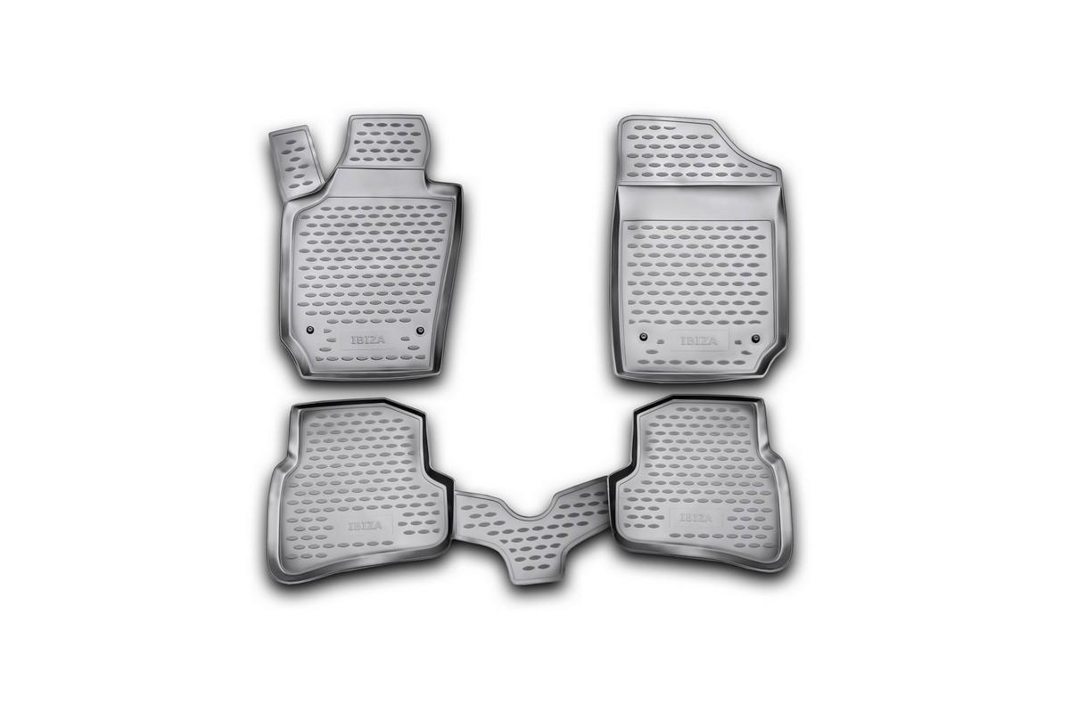 Набор автомобильных ковриков Novline-Autofamily для Seat Ibiza 2008-, универсал, в салон, 4 шт. NLC.44.03.210NLC.44.03.210Набор автомобильных ковриков Novline-Autofamily, изготовленный из полиуретана, состоит из 4 ковриков, которые учитывают все особенности каждой модели автомобиля и полностью повторяют контуры пола. Полиуретановые автомобильные коврики для салона произведены из высококачественного материала, который держит форму, прочный и не пачкает обувь. Коврики в салон не только улучшат внешний вид салона вашего автомобиля, но и надежно уберегут его от пыли, грязи и сырости, а значит, защитят кузов от коррозии. Полиуретановые коврики для автомобиля гладкие, приятные и не пропускают влагу. Ковры для автомобилей надежно крепятся на полу и не скользят, что очень важно во время движения. Чистятся коврики очень просто: как при помощи автомобильного пылесоса, так и различными моющими средствами. Набор подходит для Seat Ibiza универсал с 2008 года выпуска.