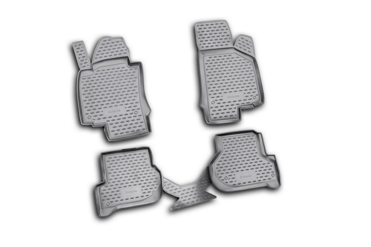 Коврики в салон автомобиля Novline-Autofamily для Skoda Octavia II, 03/2008 -, 4 штNLC.45.03.210kКоврики Novline-Autofamily улучшат внешний вид салона автомобиля и надежно уберегут его от пыли, грязи и сырости, а значит, защитят кузов от коррозии. Полиуретановые коврики гладкие, приятные и не пропускает влагу. Полиуретановые автомобильные коврики произведены из высококачественного материала, который держит форму и не пачкает обувь. Коврики надежно крепятся на полу и не скользят, что очень важно во время движения, особенно для водителя. Изделия из полиуретана надежно удерживают грязь и влагу, при этом всегда выглядят довольно опрятно. И чистятся они очень просто: как при помощи автомобильного пылесоса, так и различными моющими средствами.
