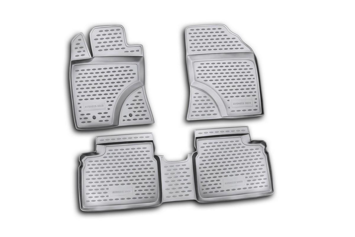 Набор автомобильных ковриков Novline-Autofamily для Toyota Avensis 01/2009-2011, в салон, цвет: черный, 4 штNLC.48.19.210kНабор автомобильных ковриков Novline-Autofamily, изготовленный из полиуретана, состоит из 4 ковриков, которые учитывают все особенности каждой модели автомобиля и полностью повторяют контуры пола. Полиуретановые автомобильные коврики для салона произведены из высококачественного материала, который держит форму, прочный и не пачкает обувь. Коврики в салон не только улучшат внешний вид салона вашего автомобиля, но и надежно уберегут его от пыли, грязи и сырости, а значит, защитят кузов от коррозии. Полиуретановые коврики для автомобиля гладкие, приятные и не пропускают влагу. Ковры для автомобилей надежно крепятся на полу и не скользят, что очень важно во время движения. Чистятся коврики очень просто: как при помощи автомобильного пылесоса, так и различными моющими средствами. Набор подходит для Toyota Avensis январь 2009 - 2011 годов выпуска.