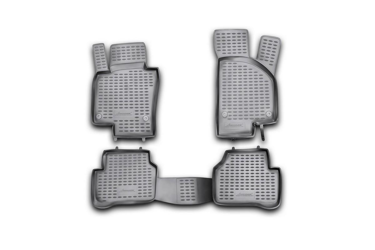 Набор автомобильных ковриков Novline-Autofamily для Volkswagen Passat B6 09/2005-, в салон, 4 штNLC.51.06.210khНабор автомобильных ковриков Novline-Autofamily, изготовленный из полиуретана, состоит из 4 ковриков, которые учитывают все особенности каждой модели автомобиля и полностью повторяют контуры пола. Полиуретановые автомобильные коврики для салона произведены из высококачественного материала, который держит форму, прочный и не пачкает обувь. Коврики в салон не только улучшат внешний вид салона вашего автомобиля, но и надежно уберегут его от пыли, грязи и сырости, а значит, защитят кузов от коррозии. Полиуретановые коврики для автомобиля гладкие, приятные и не пропускают влагу. Ковры для автомобилей надежно крепятся на полу и не скользят, что очень важно во время движения. Чистятся коврики очень просто: как при помощи автомобильного пылесоса, так и различными моющими средствами. Набор подходит для Volkswagen Passat B6 с сентября 2005 года выпуска.