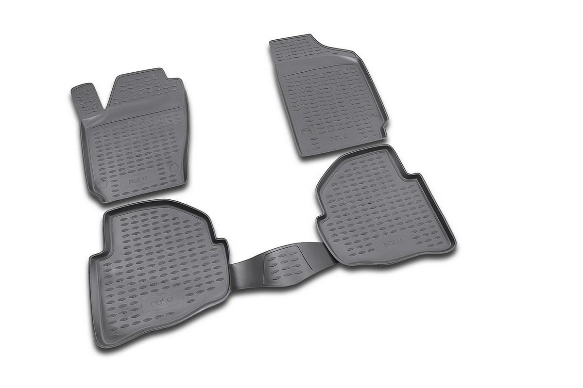 Набор автомобильных ковриков Novline-Autofamily для Volkswagen Polo 02/2002-2009, в салон, 4 штNLC.51.08.210Набор автомобильных ковриков Novline-Autofamily, изготовленный из полиуретана, состоит из 4 ковриков, которые учитывают все особенности каждой модели автомобиля и полностью повторяют контуры пола. Полиуретановые автомобильные коврики для салона произведены из высококачественного материала, который держит форму, прочный и не пачкает обувь. Коврики в салон не только улучшат внешний вид салона вашего автомобиля, но и надежно уберегут его от пыли, грязи и сырости, а значит, защитят кузов от коррозии. Полиуретановые коврики для автомобиля гладкие, приятные и не пропускают влагу. Ковры для автомобилей надежно крепятся на полу и не скользят, что очень важно во время движения. Чистятся коврики очень просто: как при помощи автомобильного пылесоса, так и различными моющими средствами. Набор подходит для Volkswagen Polo февраль 2002 - 2009 годов выпуска.