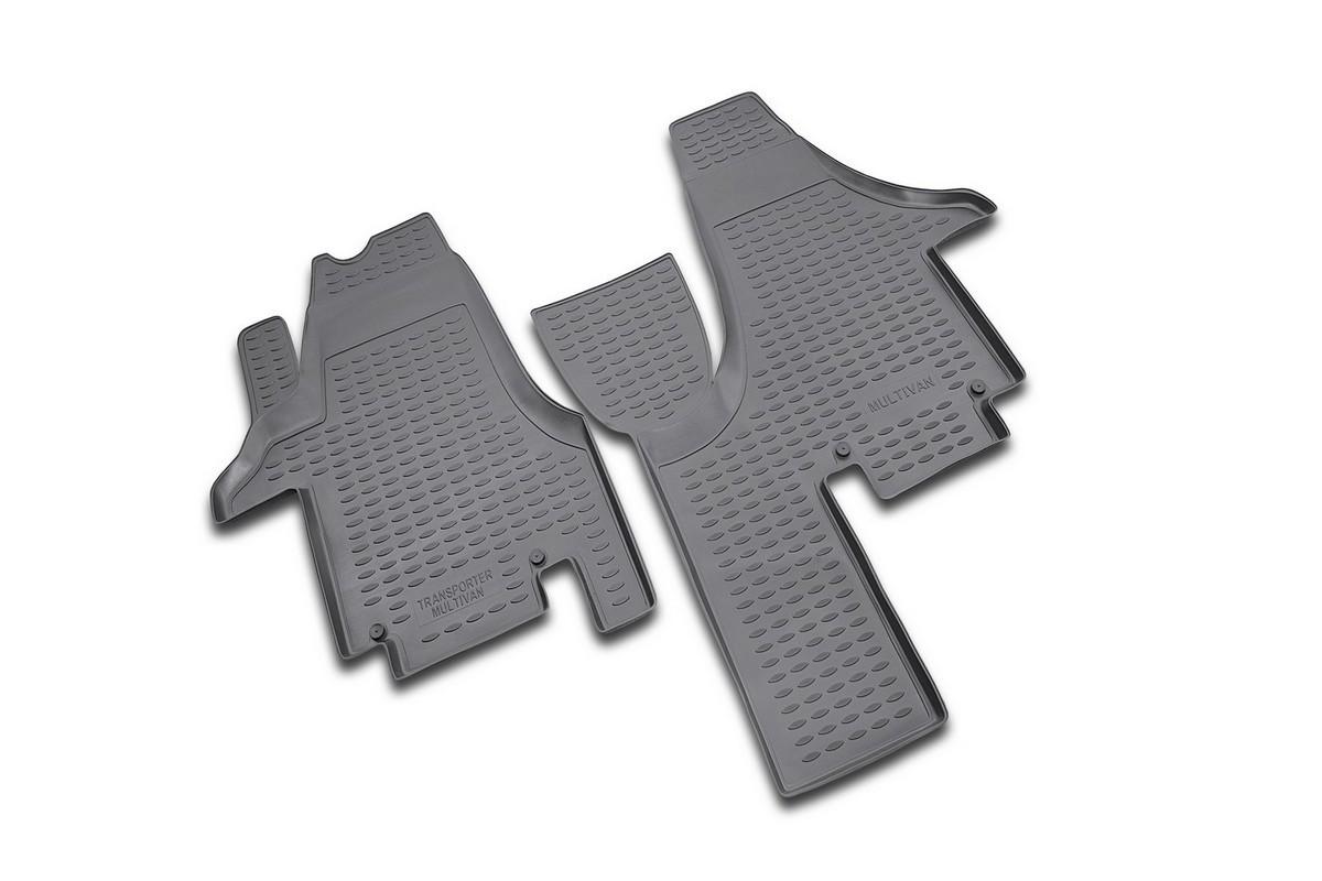 Набор автомобильных ковриков Novline-Autofamily для Volkswagen Multivan 2004-, в салон, 2 штNLC.51.17.210Набор автомобильных ковриков Novline-Autofamily, изготовленный из полиуретана, состоит из 2 ковриков, которые учитывают все особенности каждой модели автомобиля и полностью повторяют контуры пола. Полиуретановые автомобильные коврики для салона произведены из высококачественного материала, который держит форму, прочный и не пачкает обувь. Коврики в салон не только улучшат внешний вид салона вашего автомобиля, но и надежно уберегут его от пыли, грязи и сырости, а значит, защитят кузов от коррозии. Полиуретановые коврики для автомобиля гладкие, приятные и не пропускают влагу. Ковры для автомобилей надежно крепятся на полу и не скользят, что очень важно во время движения. Чистятся коврики очень просто: как при помощи автомобильного пылесоса, так и различными моющими средствами. Набор подходит для Volkswagen Multivan с 2004 года выпуска.