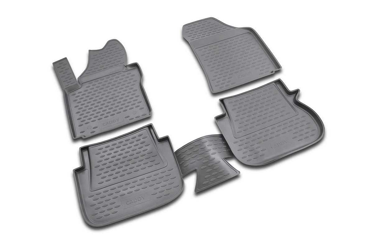 Набор автомобильных ковриков Novline-Autofamily для Volkswagen Caddy 10/2007-, в салон, 4 штNLC.51.18.210kНабор автомобильных ковриков Novline-Autofamily, изготовленный из полиуретана, состоит из 4 ковриков, которые учитывают все особенности каждой модели автомобиля и полностью повторяют контуры пола. Полиуретановые автомобильные коврики для салона произведены из высококачественного материала, который держит форму, прочный и не пачкает обувь. Коврики в салон не только улучшат внешний вид салона вашего автомобиля, но и надежно уберегут его от пыли, грязи и сырости, а значит, защитят кузов от коррозии. Полиуретановые коврики для автомобиля гладкие, приятные и не пропускают влагу. Ковры для автомобилей надежно крепятся на полу и не скользят, что очень важно во время движения. Чистятся коврики очень просто: как при помощи автомобильного пылесоса, так и различными моющими средствами. Набор подходит для Volkswagen Caddy с октября 2007 года выпуска.